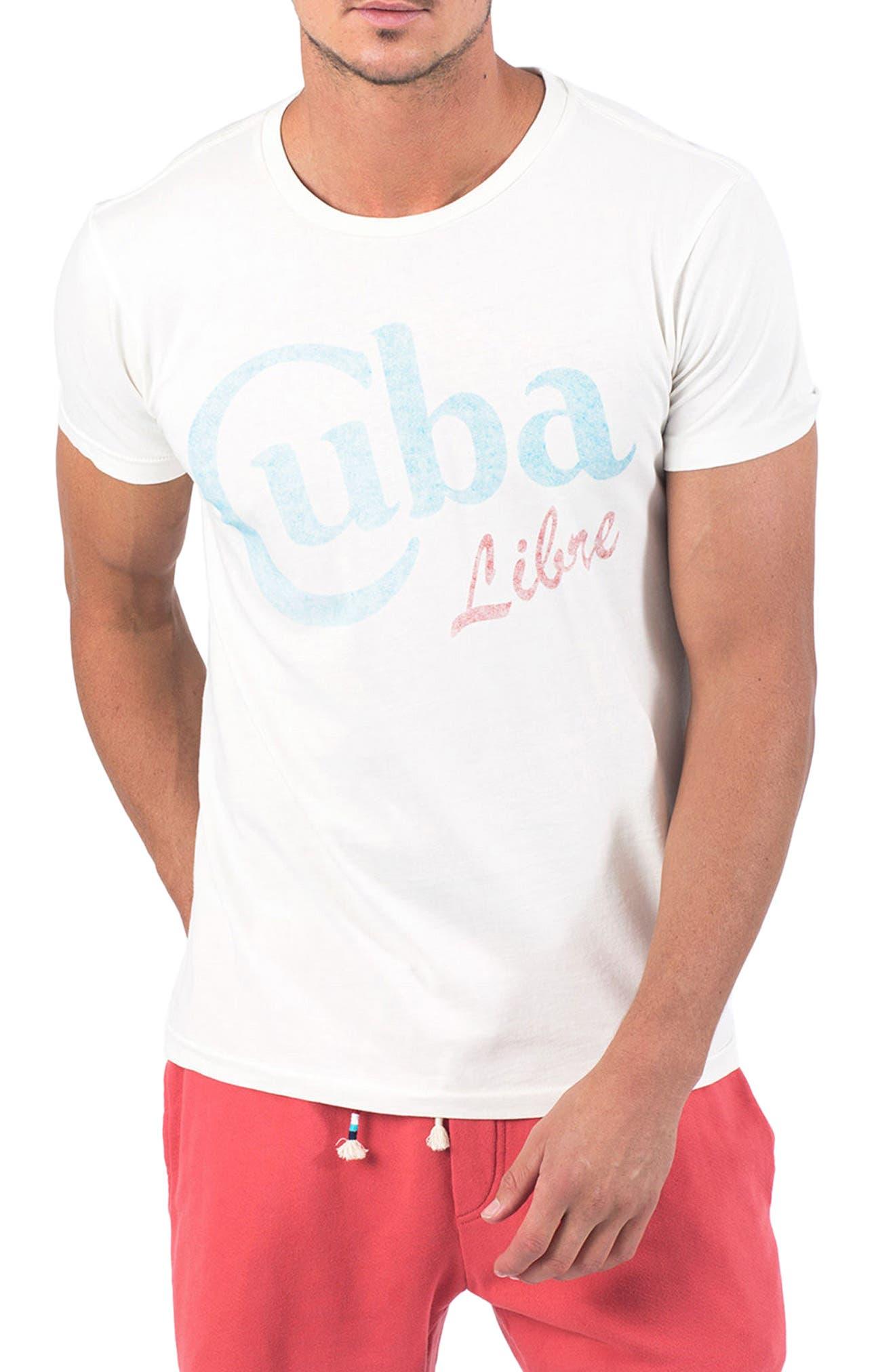 Cuba Libre T-Shirt,                             Main thumbnail 1, color,                             D White
