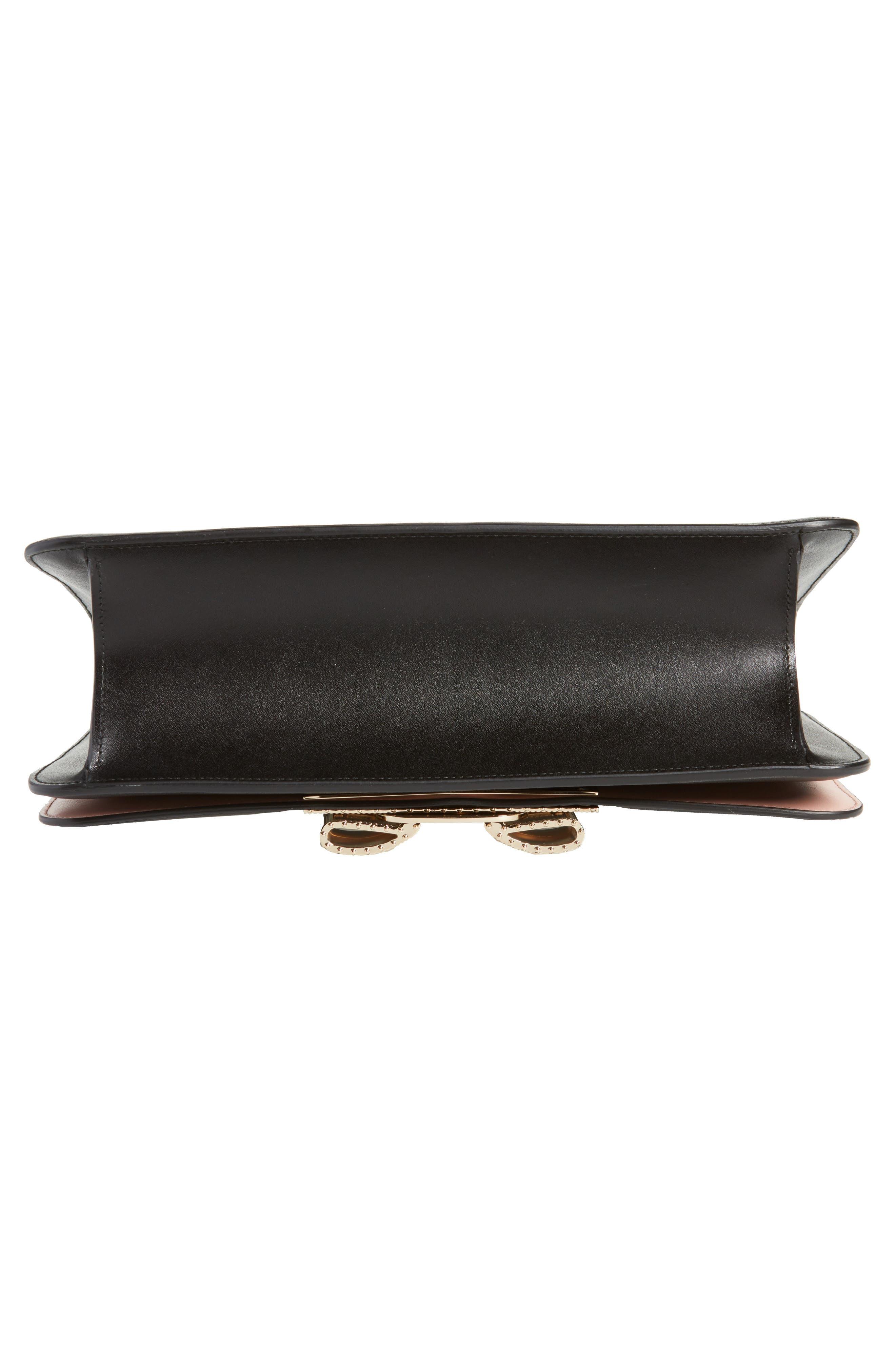 Vara Leather Shoulder Bag,                             Alternate thumbnail 6, color,                             Nero/ Bonbon