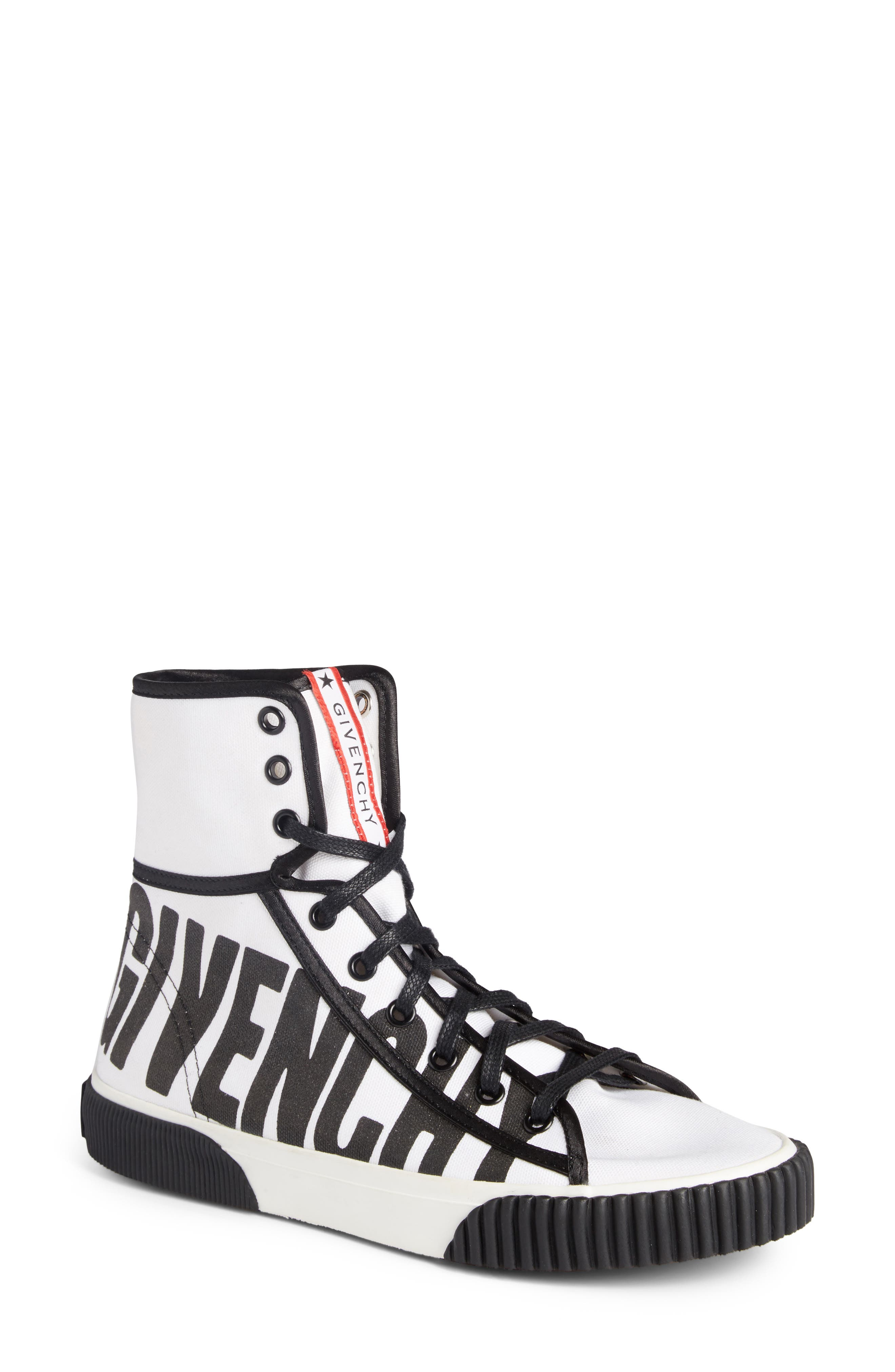 Givenchy Boxing Logo High Top Sneaker (Women)
