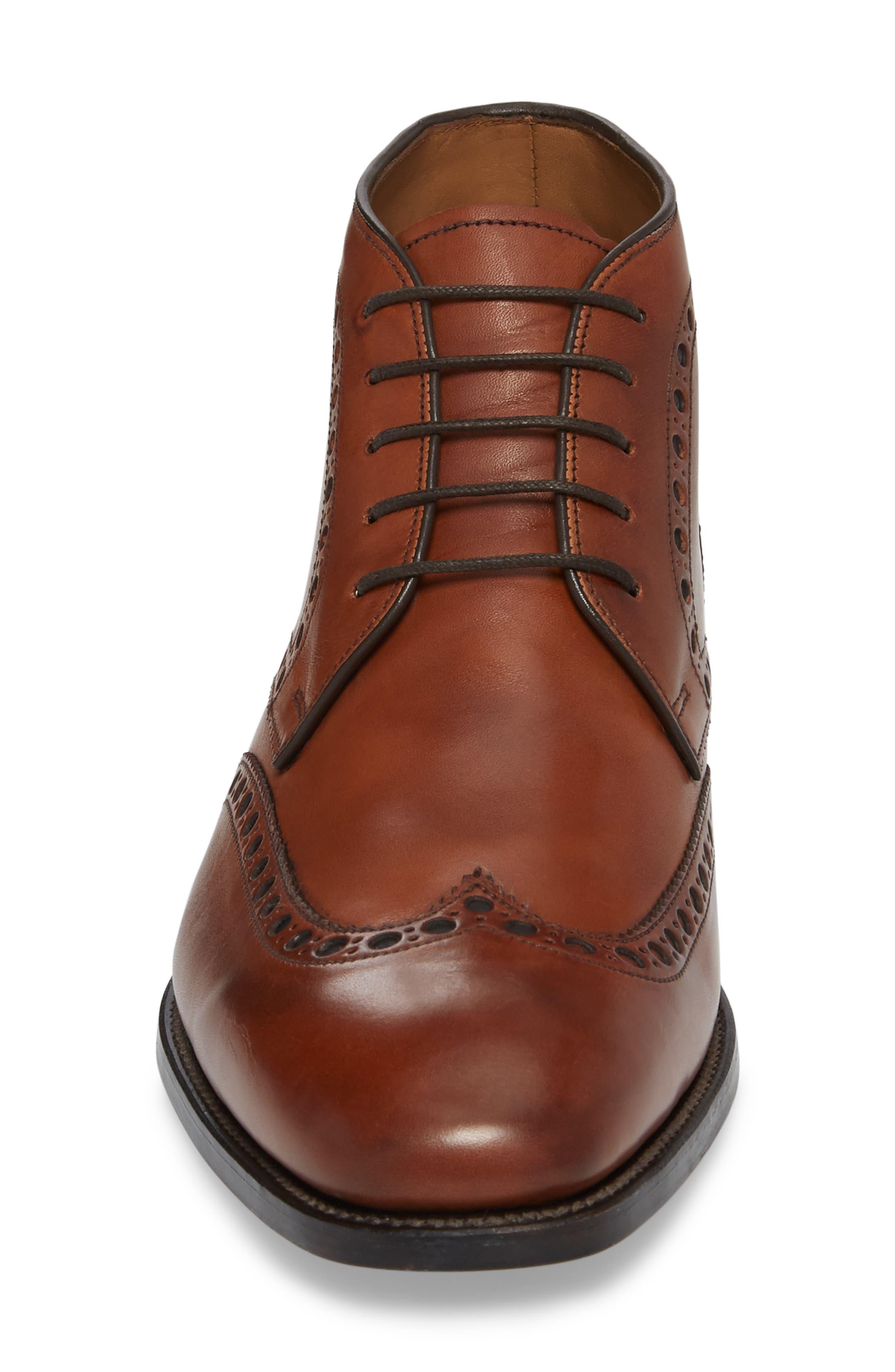 Presidio Wingtip Chukka Boot,                             Alternate thumbnail 4, color,                             Cognac