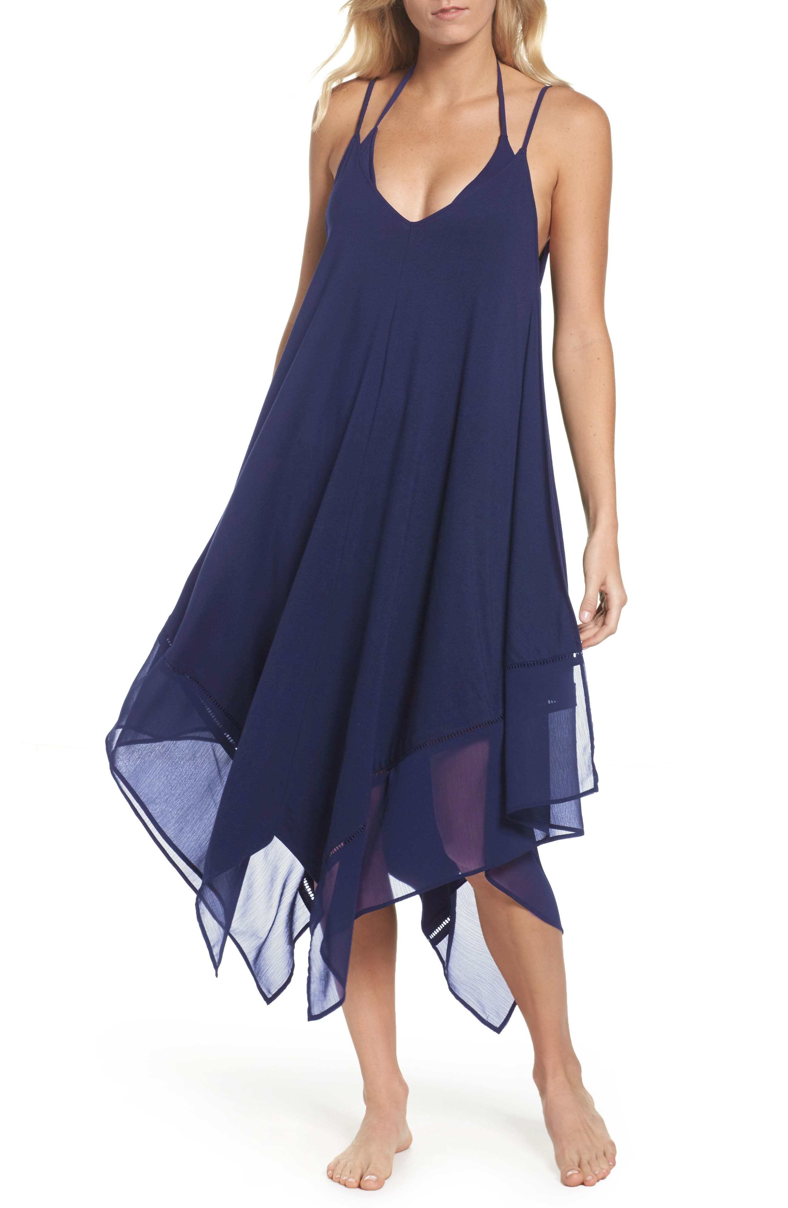 Cover-Up Scarf Dress,                         Main,                         color, Mare Navy