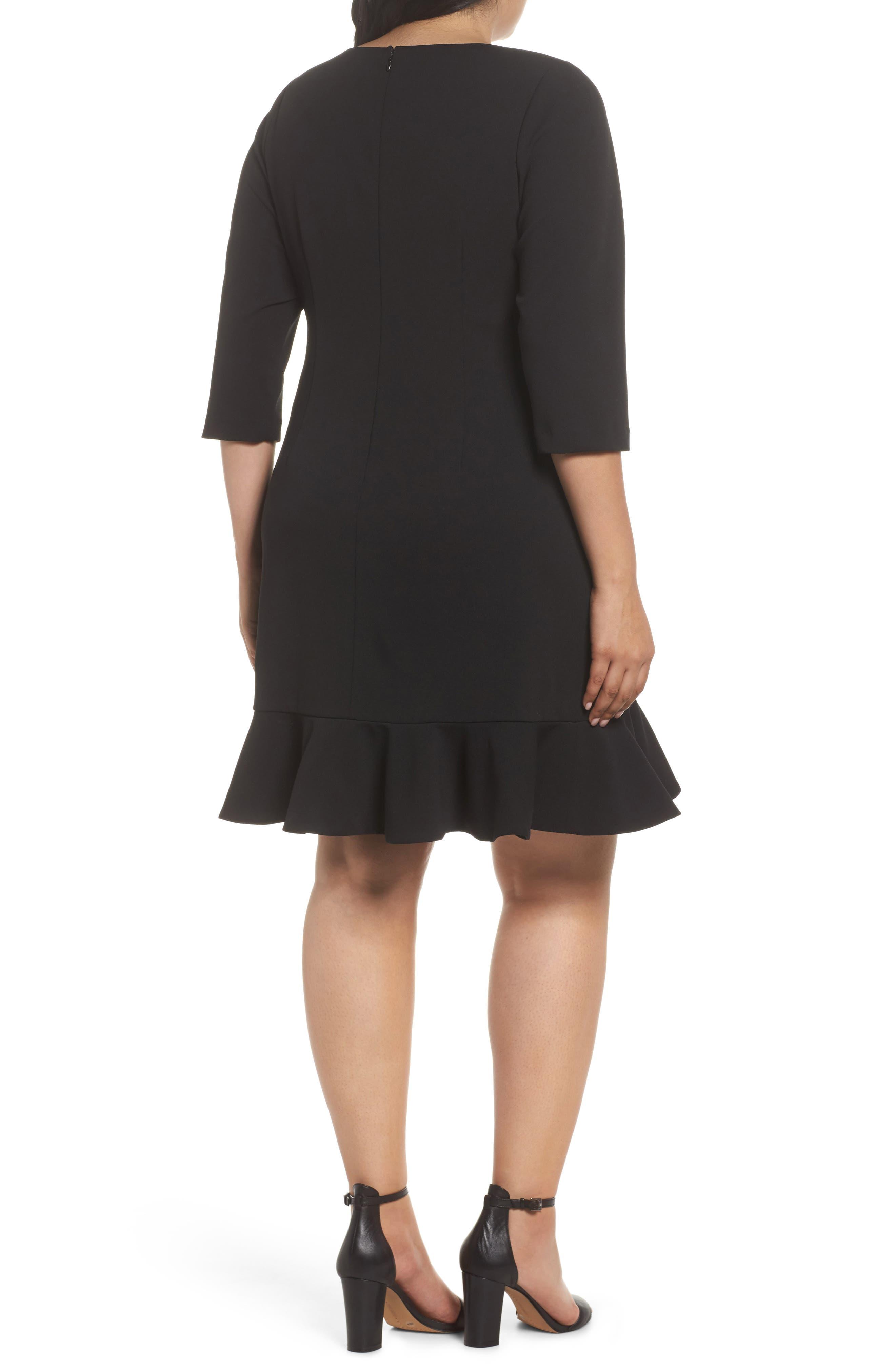 Alternate Image 2  - Vince Camuto Scuba Crepe Sheath Dress (Plus Size)