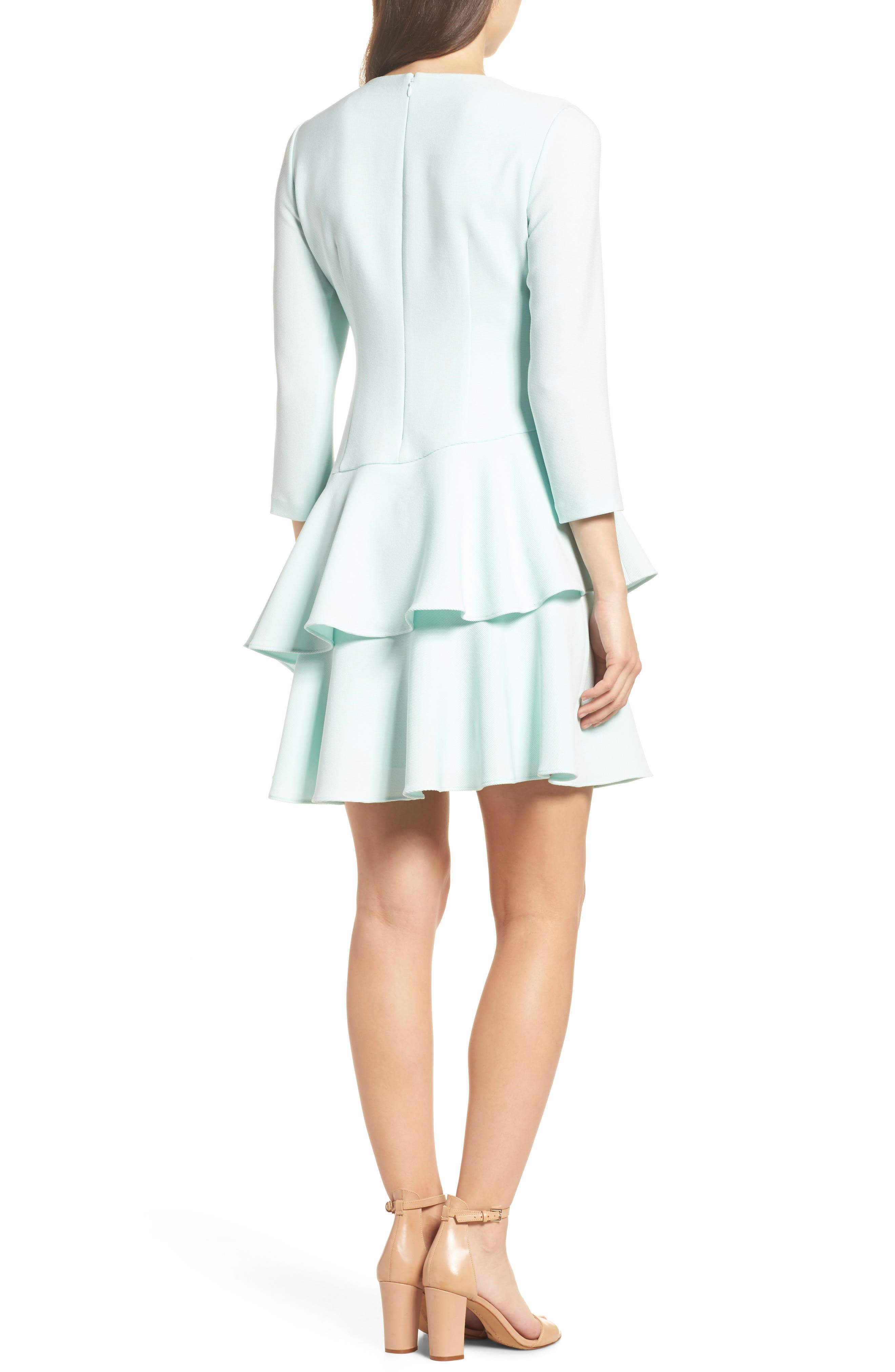 Tiered Ruffle Dress,                             Alternate thumbnail 2, color,                             Mint