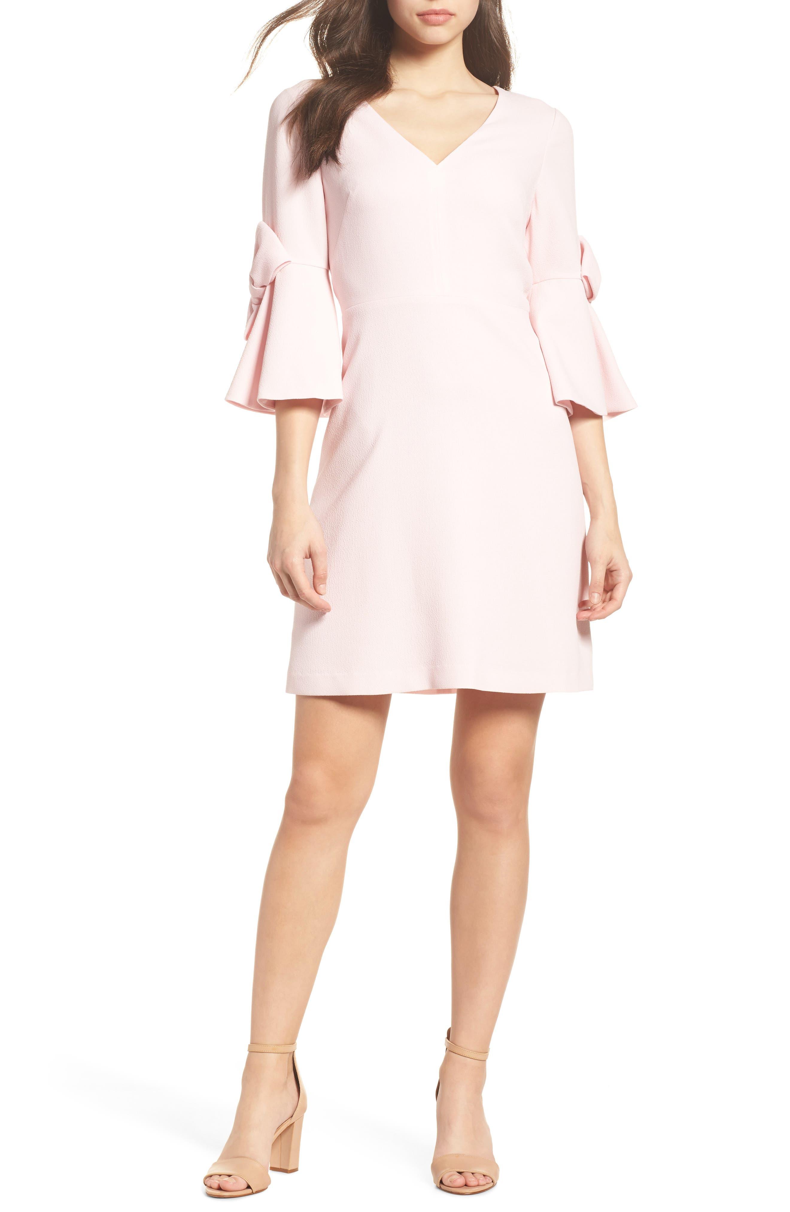 Eliza J Bell Sleeve Sheath Dress (Regular & Petite)
