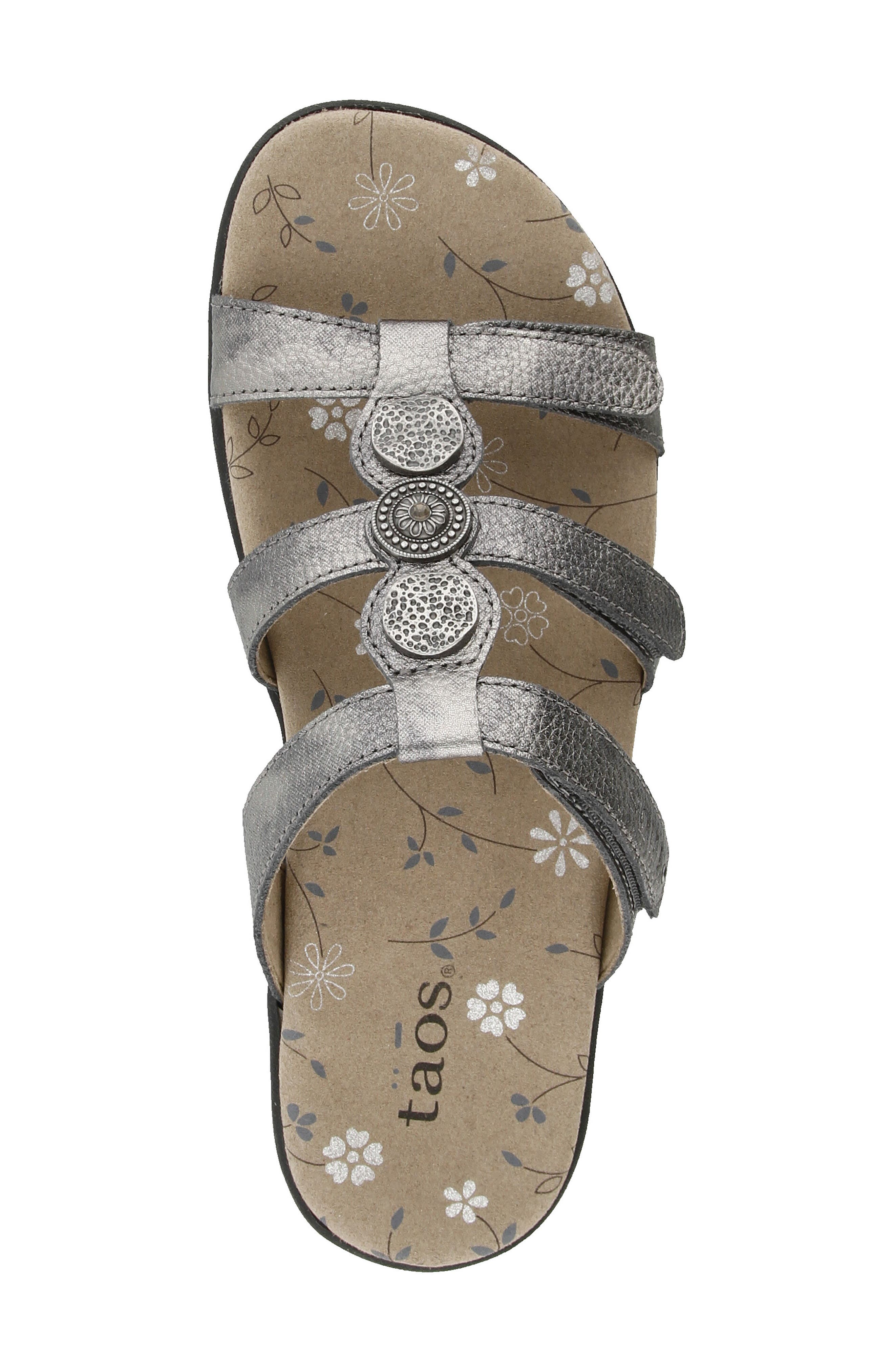 Prize 3 Sandal,                             Alternate thumbnail 4, color,                             Pewter Leather