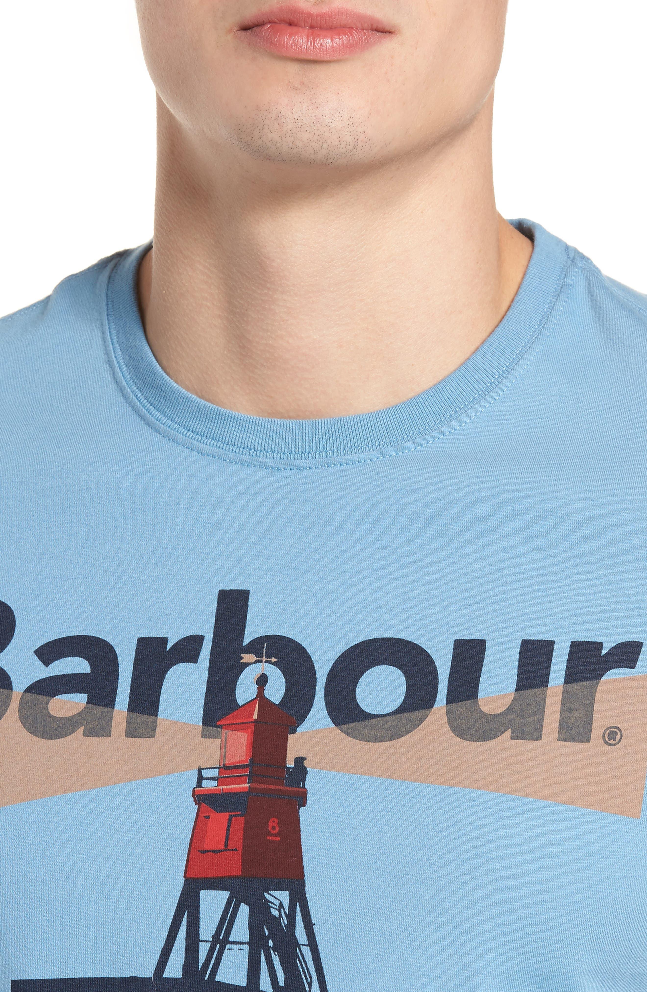Beacon 94 Crewneck T-Shirt,                             Alternate thumbnail 4, color,                             Blue