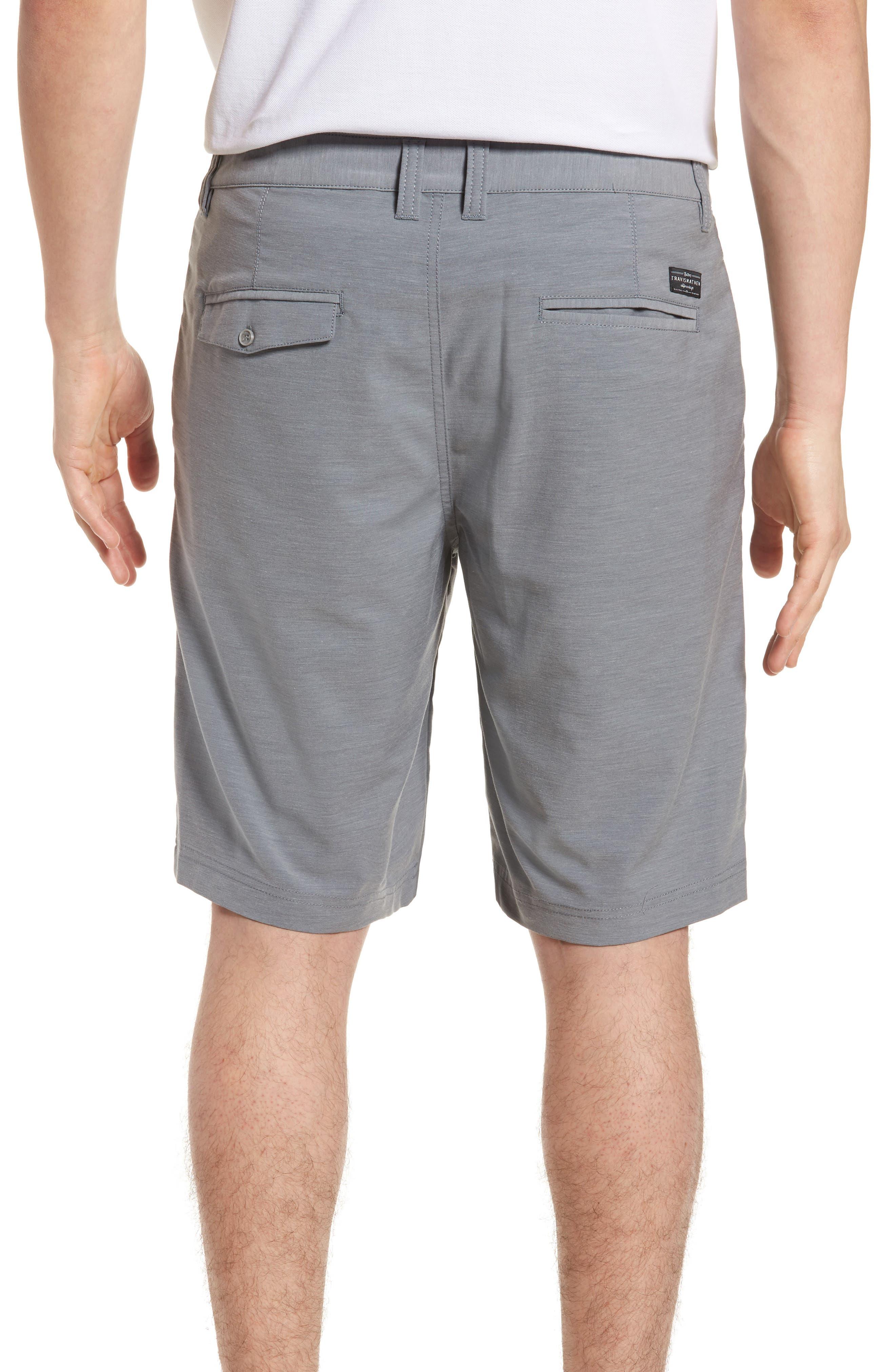 La Paz Regular Fit Slub Knit Shorts,                             Alternate thumbnail 2, color,                             Sharkskin