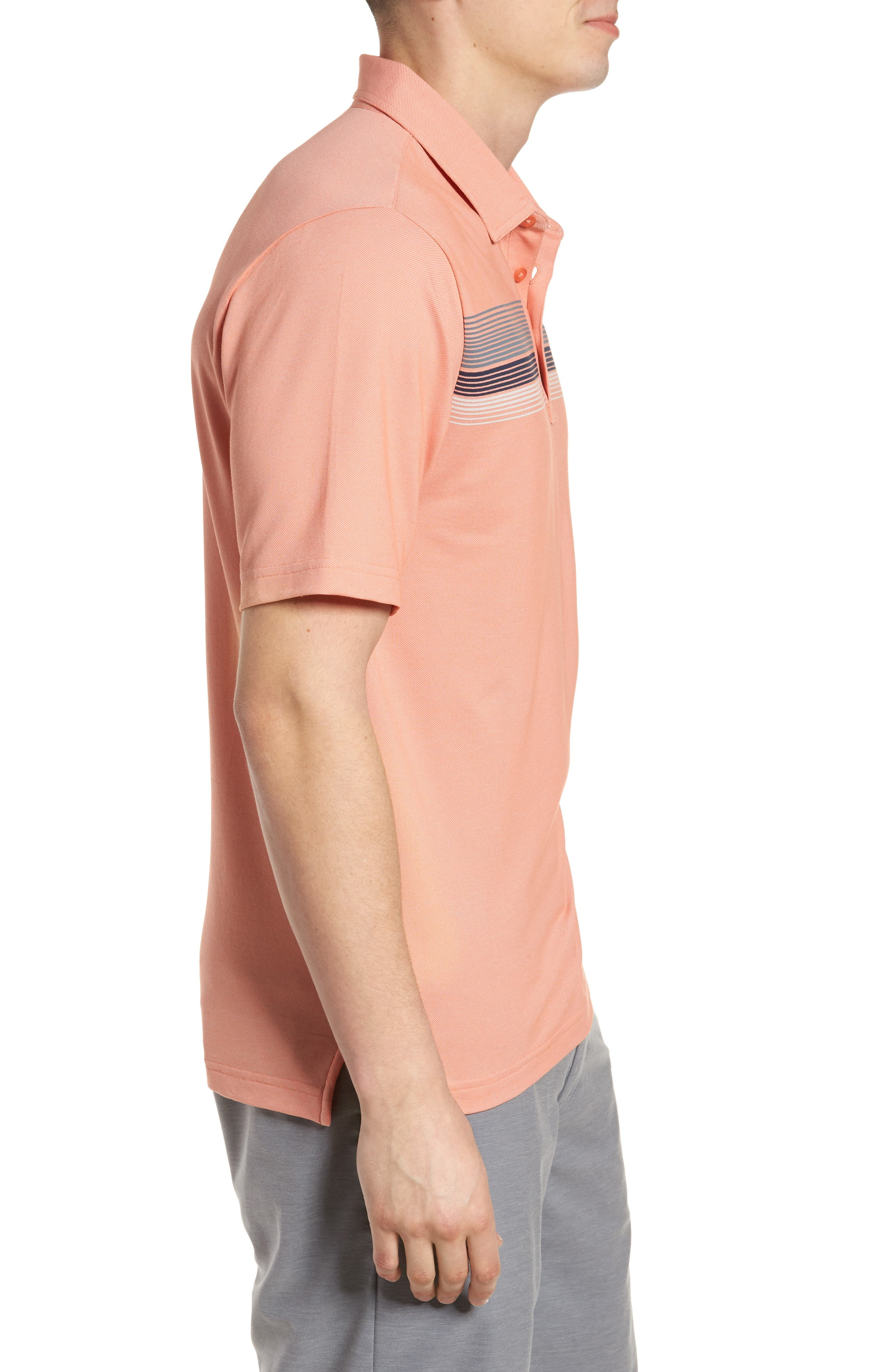 Happy Jelly Regular Fit Polo,                             Alternate thumbnail 3, color,                             Flamingo/ Micro Chip