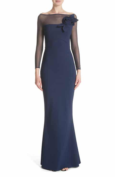 Chiara Boni la Petite Robe Saori Mesh Panel Mermaid Gown