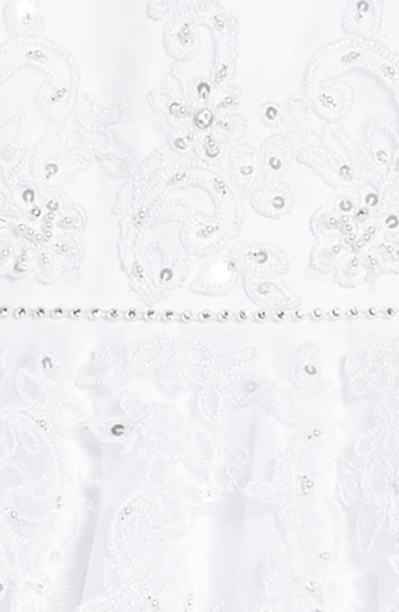 Satin & Tulle First Communion Dress,                             Alternate thumbnail 3, color,                             White