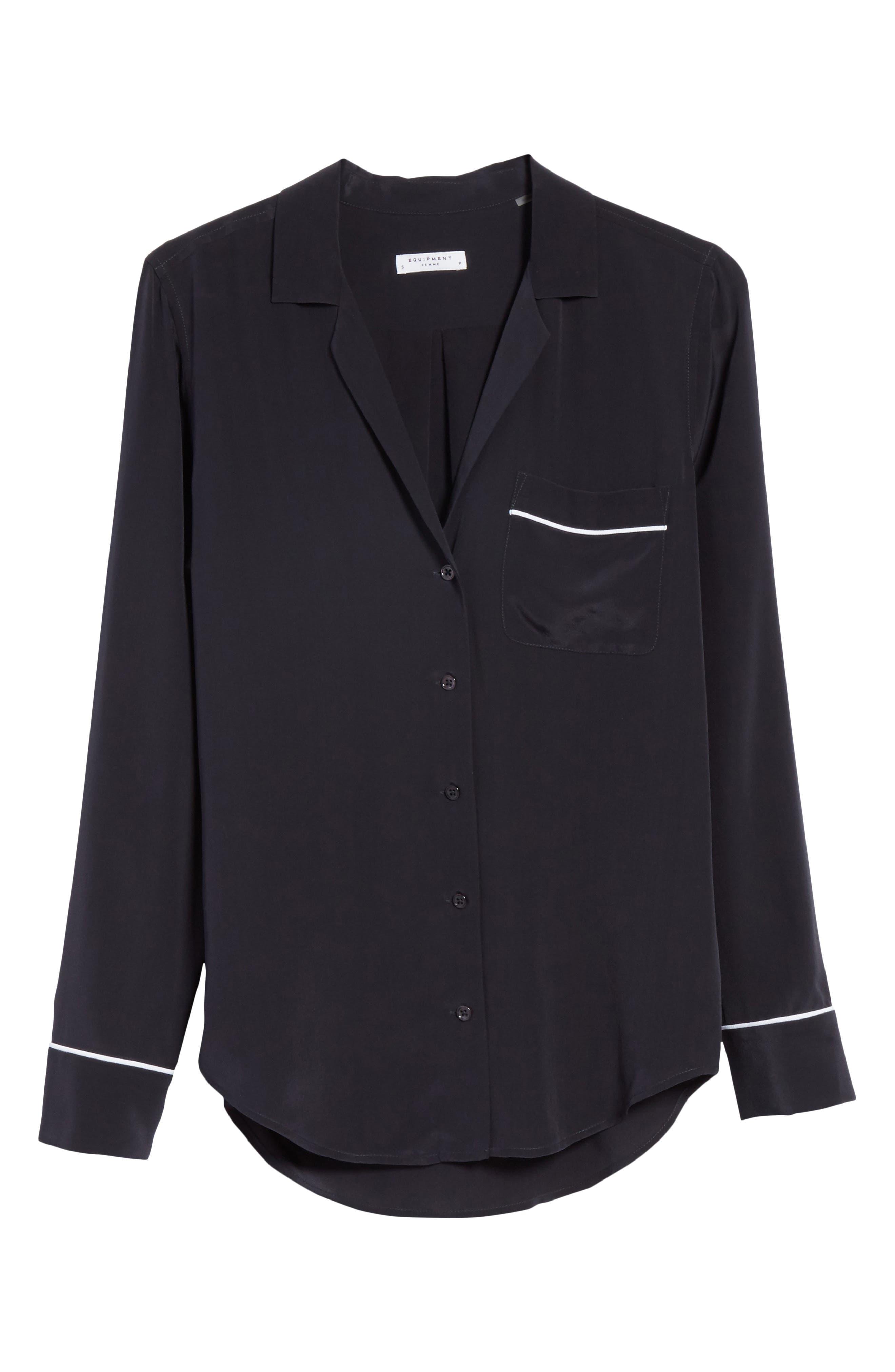 Alternate Image 6  - Equipment Keira Piped Silk Shirt