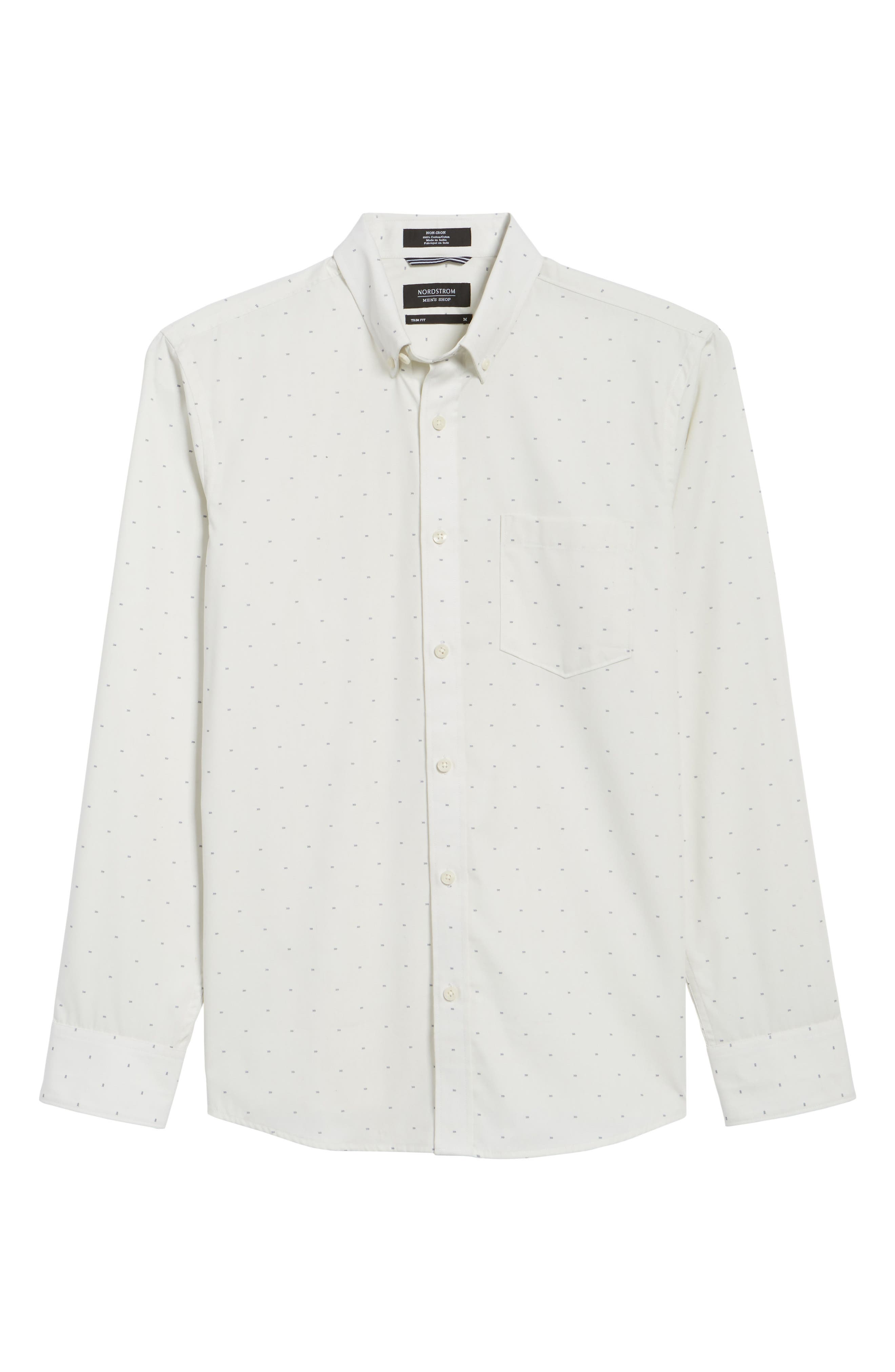 Alternate Image 6  - Nordstrom Men's Shop Trim Fit Non-Iron Dobby Sport Shirt