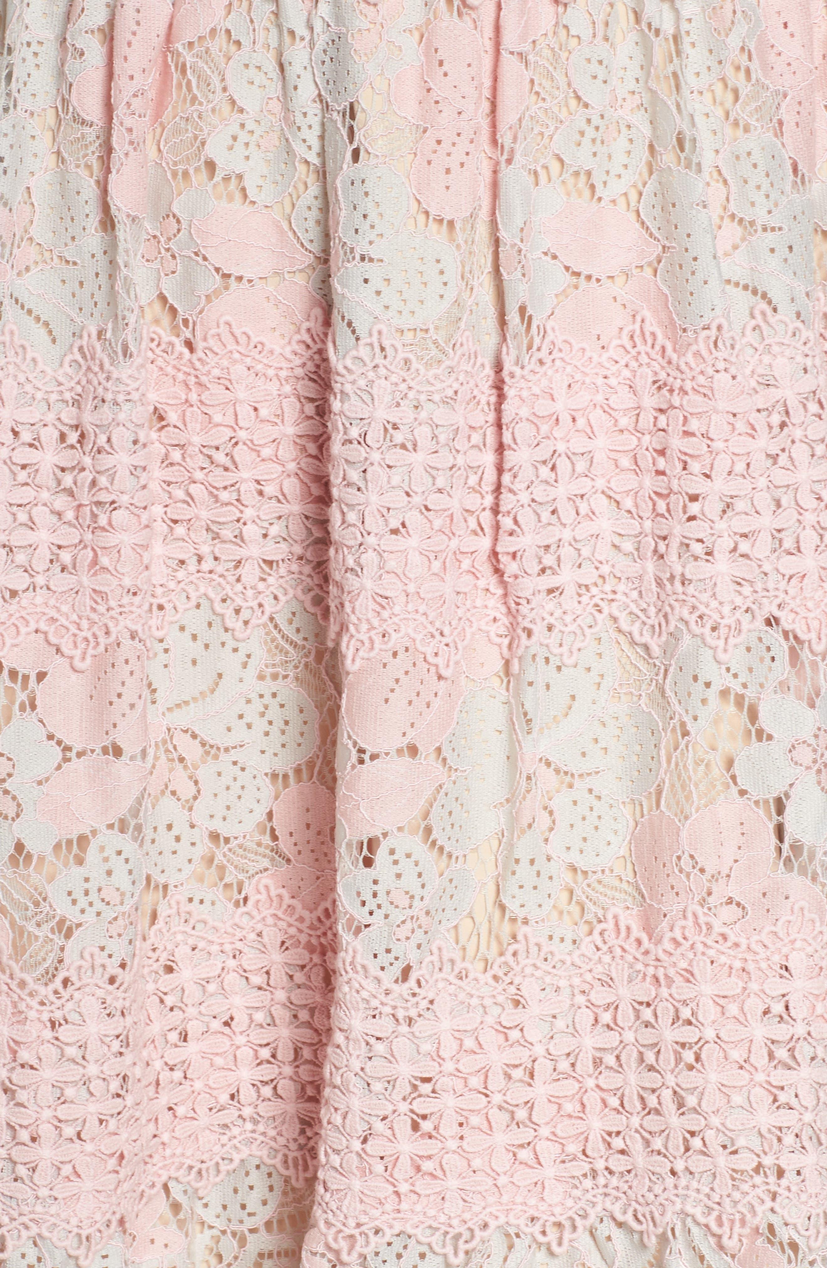 Tabitha Lace Minidress,                             Alternate thumbnail 5, color,                             Aquarose