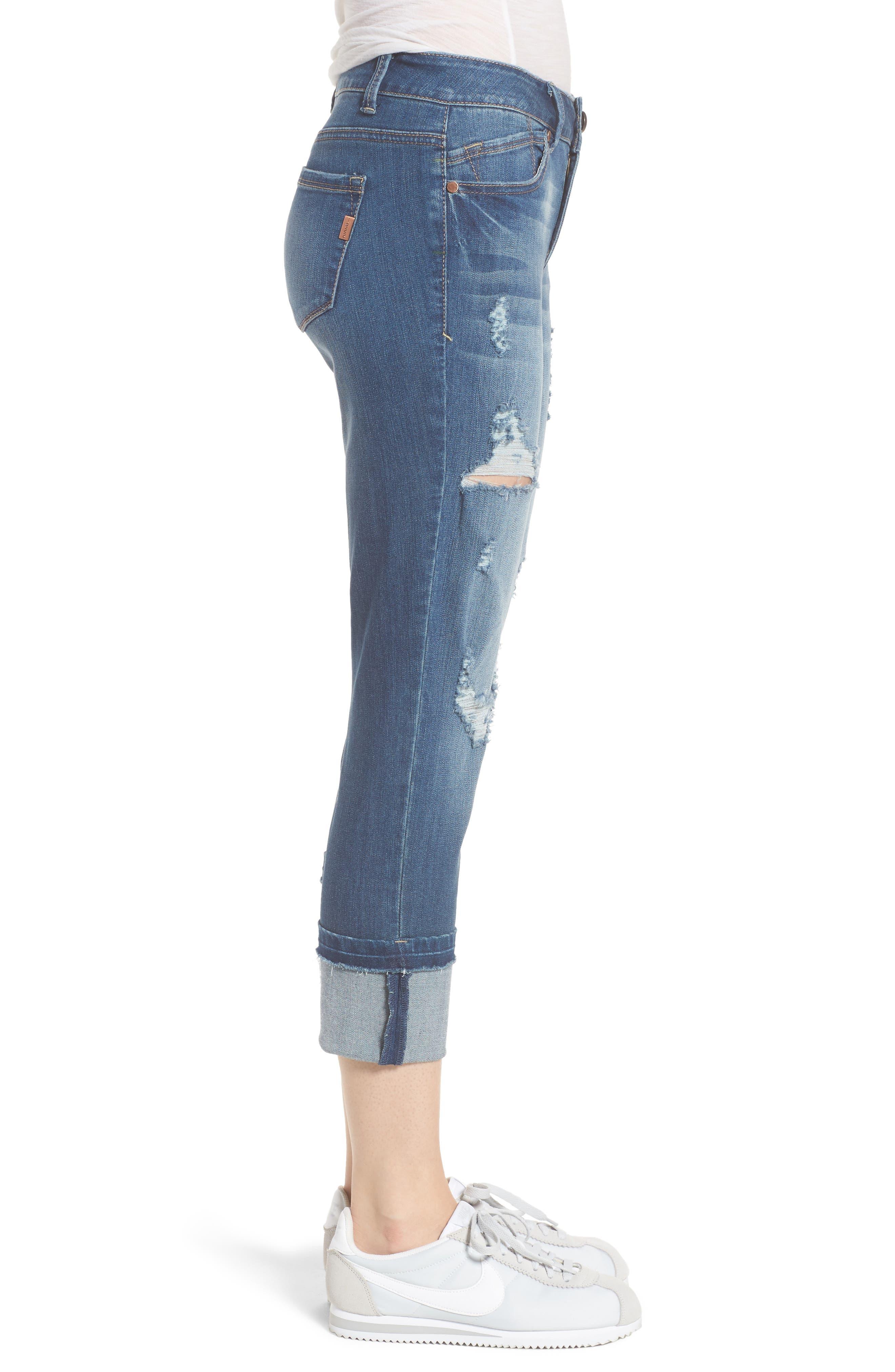Decon Cuffed Skinny Jeans,                             Alternate thumbnail 3, color,                             Dedra