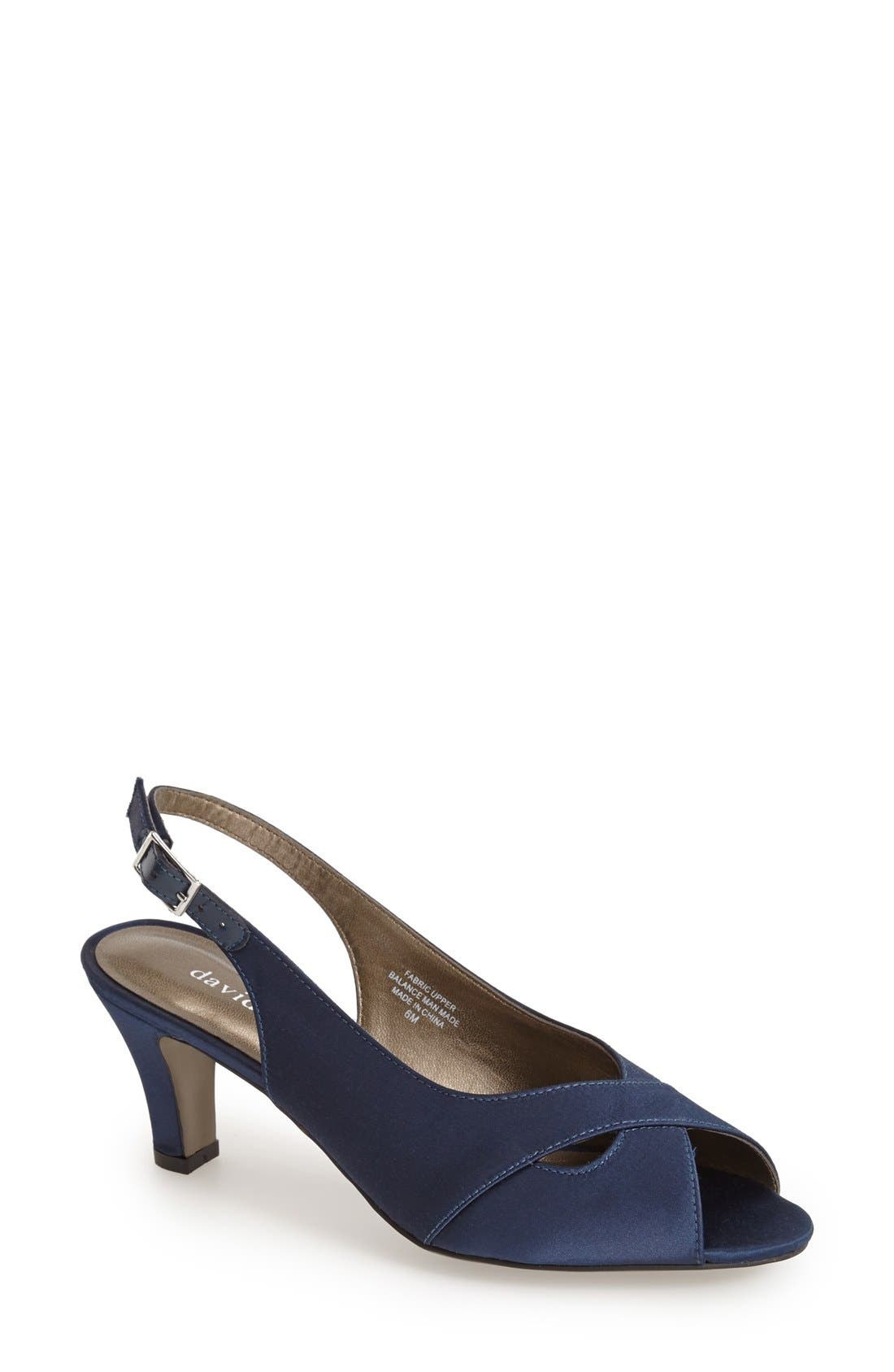 Alternate Image 1 Selected - David Tate 'Palm' Slingback Satin Sandal (Women)