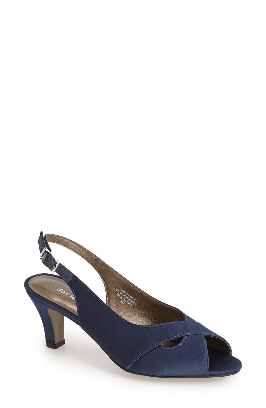 David Tate 'Palm' Slingback Satin Sandal (Women)
