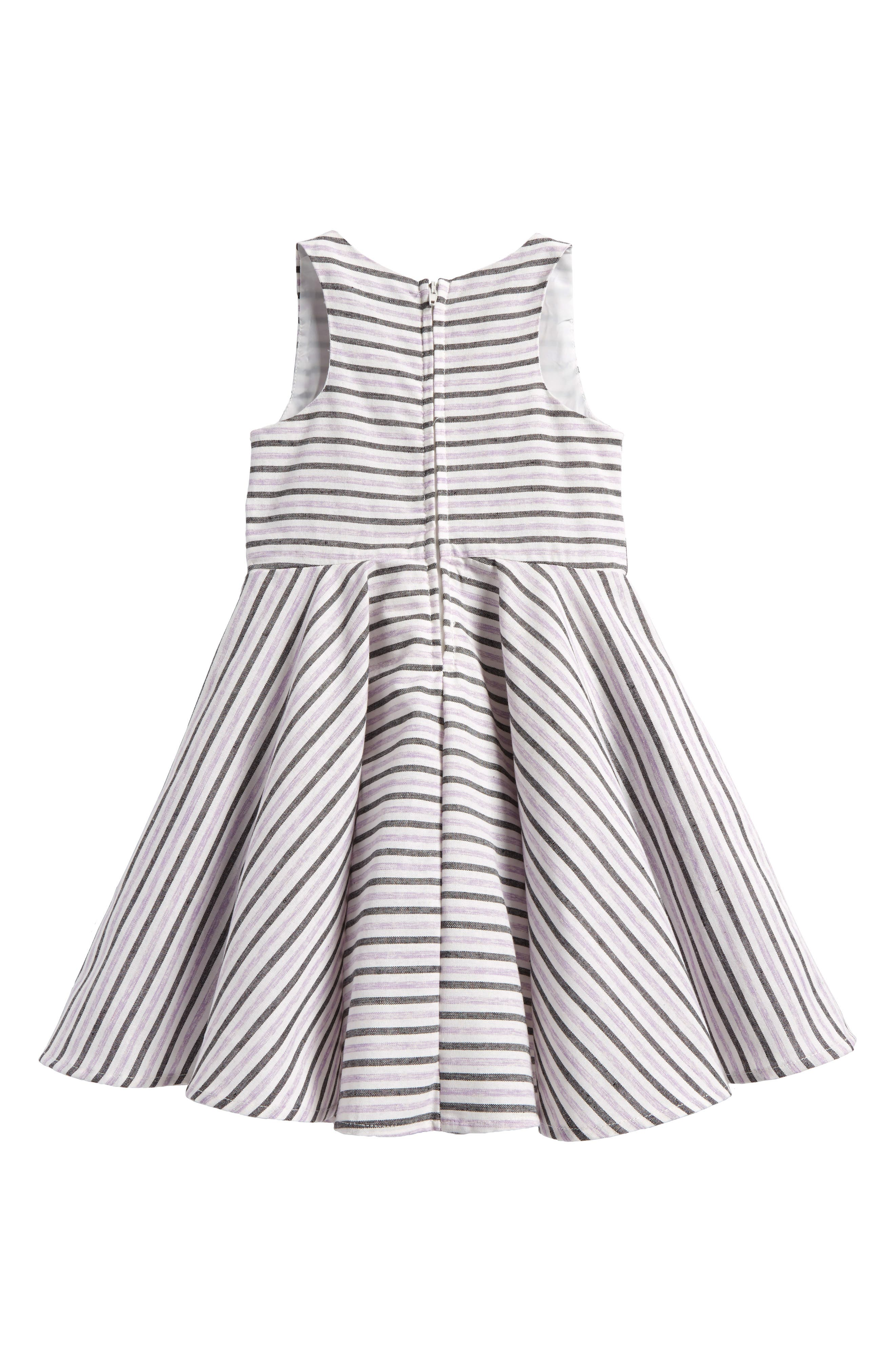 Stripe Cotton Dress,                             Alternate thumbnail 2, color,                             Lilac