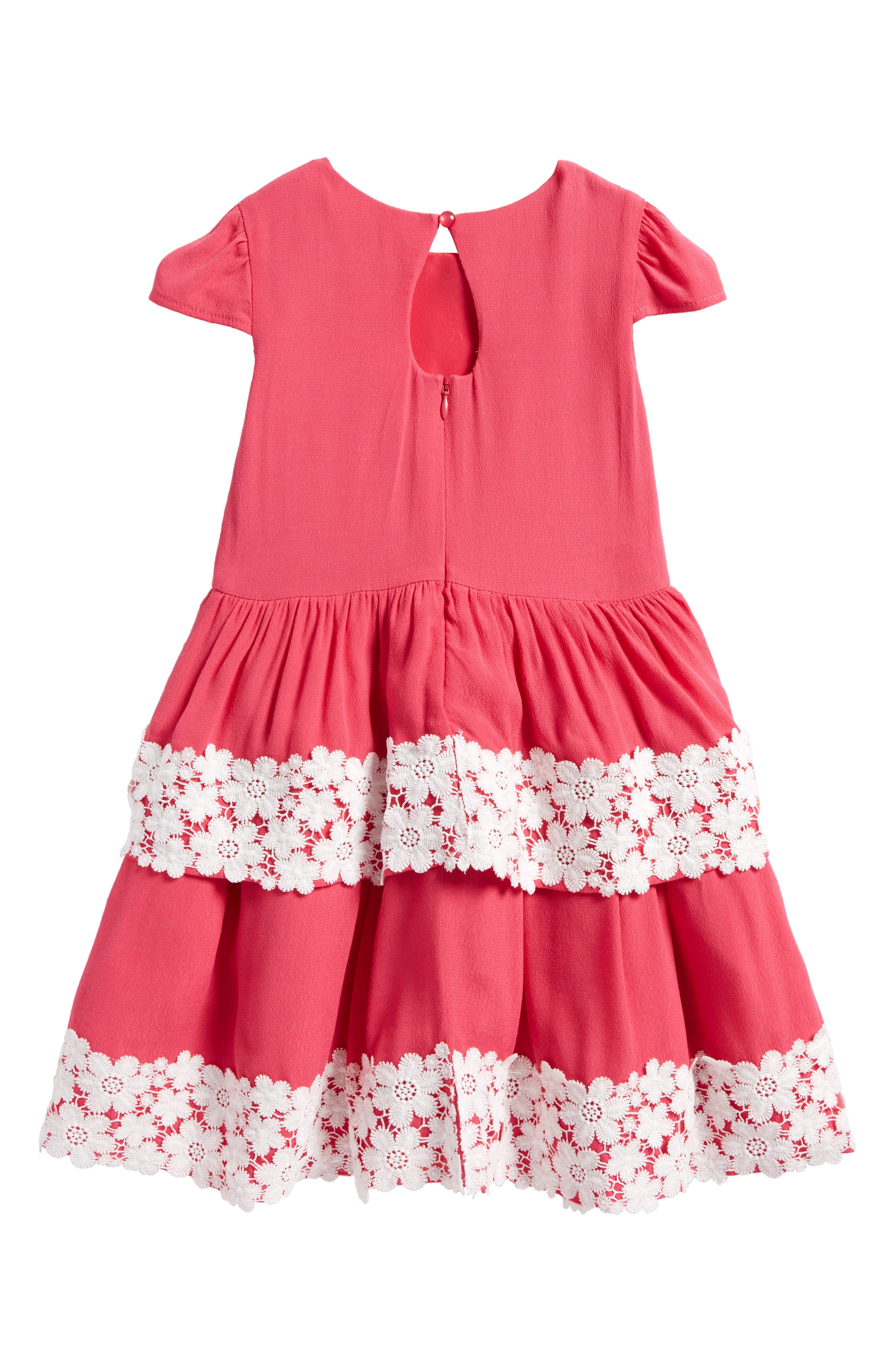 Tiered Skirt Dress,                             Alternate thumbnail 2, color,                             Calypso Coral