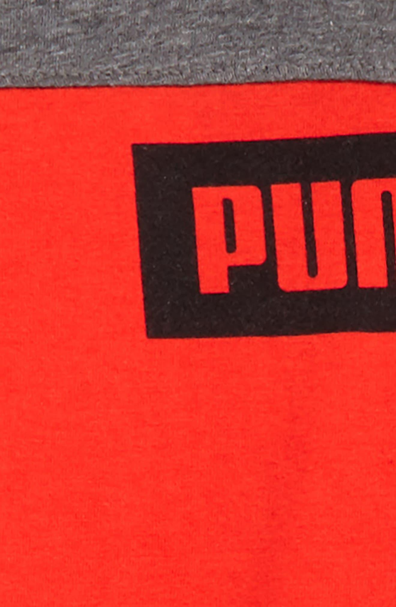 Rebel Logo T-Shirt & Shorts Set,                             Alternate thumbnail 2, color,                             Flame Scarlet