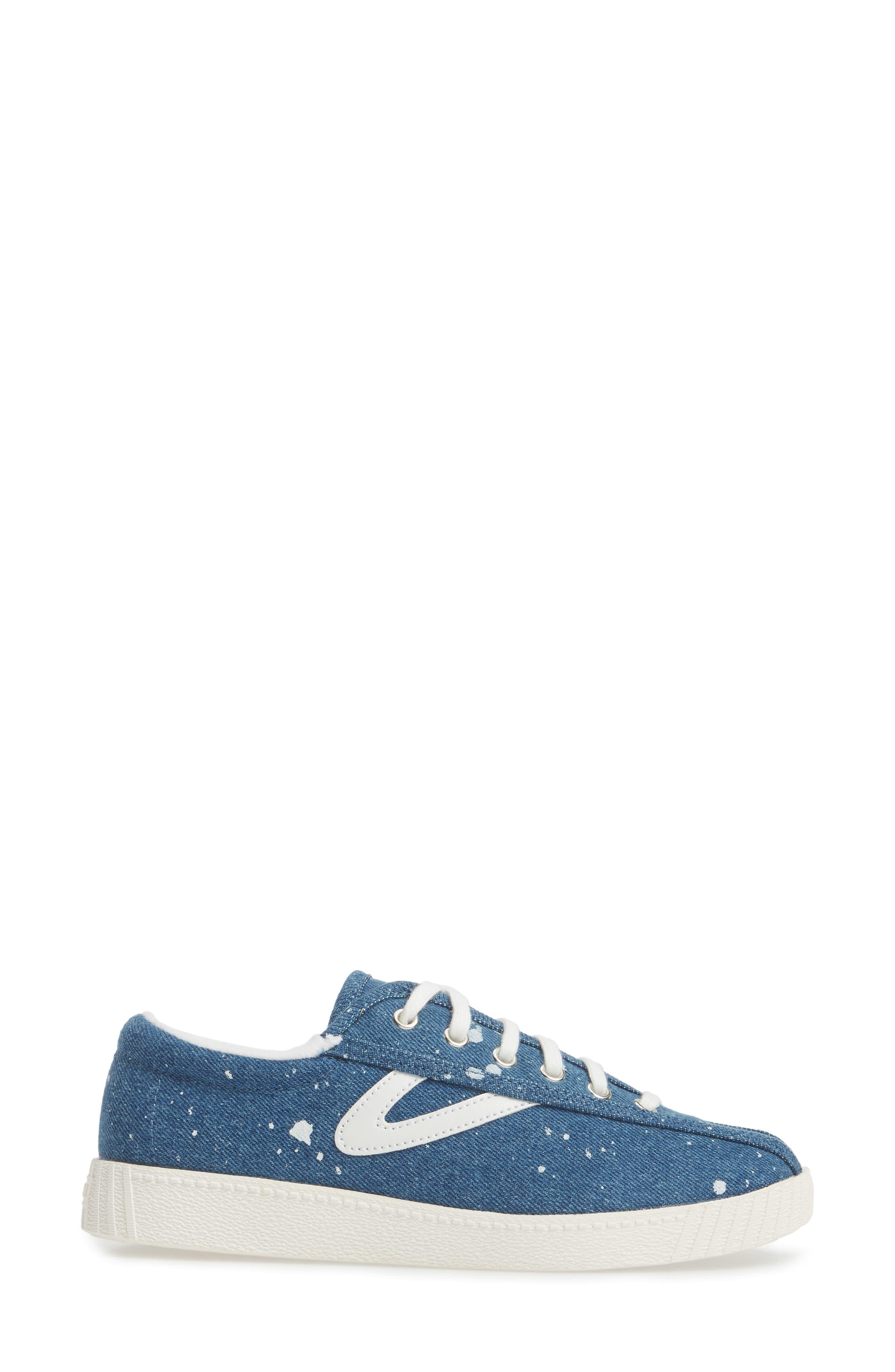 Nylite Plus Sneaker,                             Alternate thumbnail 3, color,                             Blue Fabric