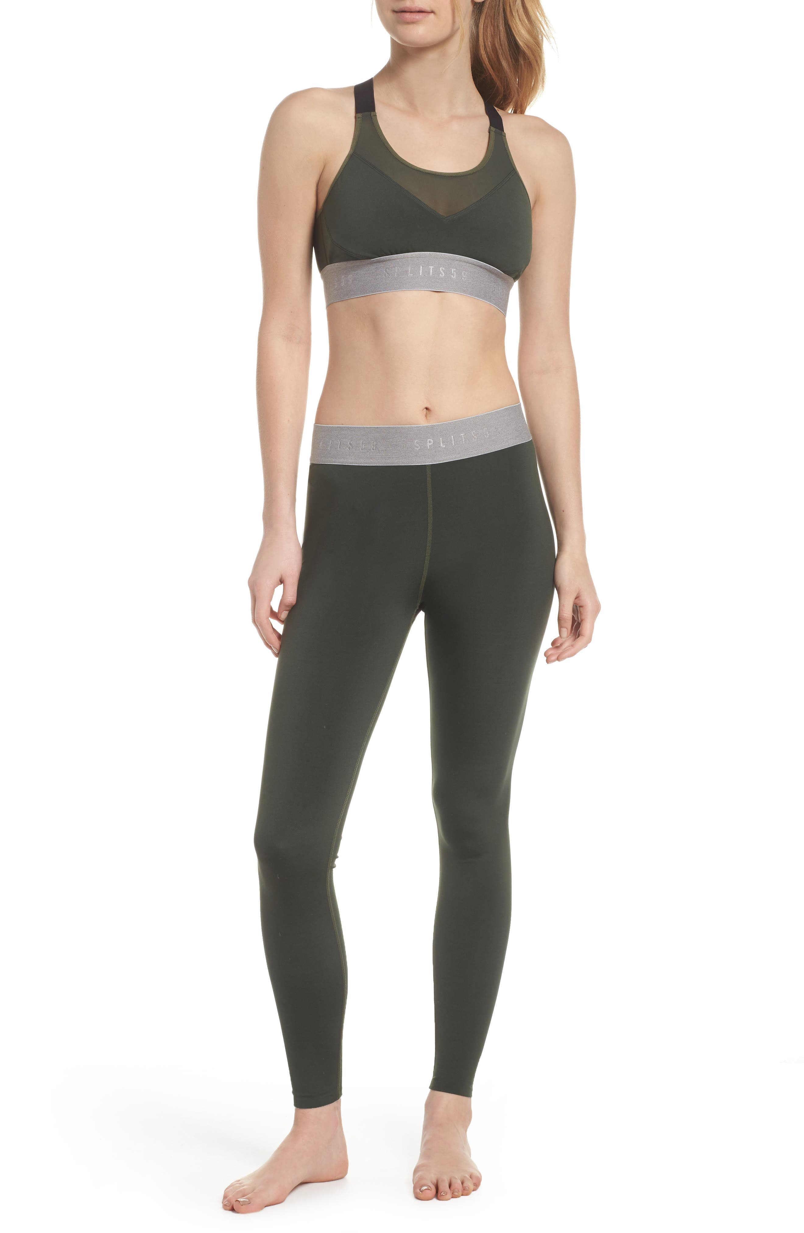 Tempo Ankle Tights,                             Alternate thumbnail 8, color,                             Army