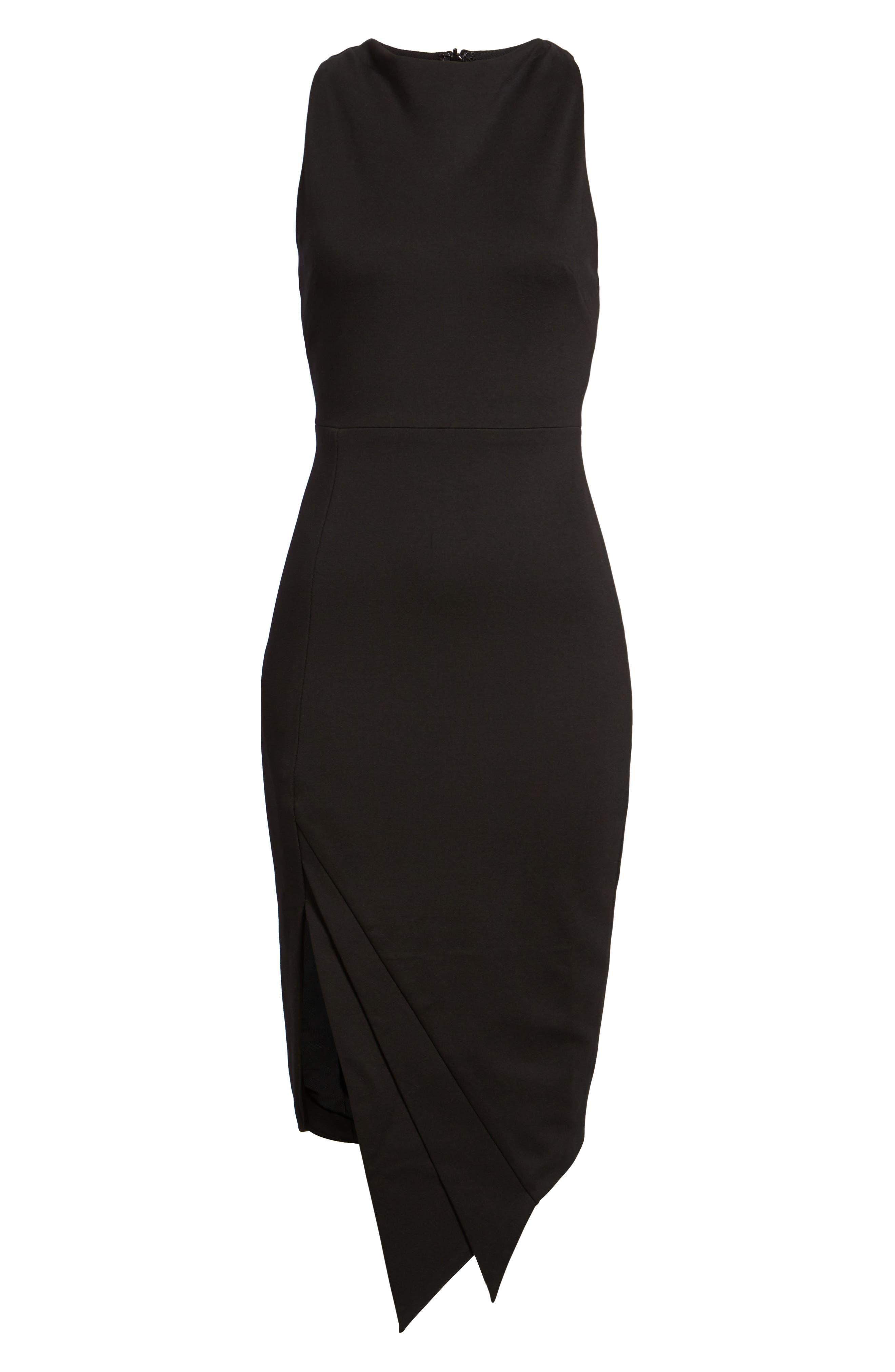 Carmen Sheath Dress,                             Alternate thumbnail 6, color,                             Black
