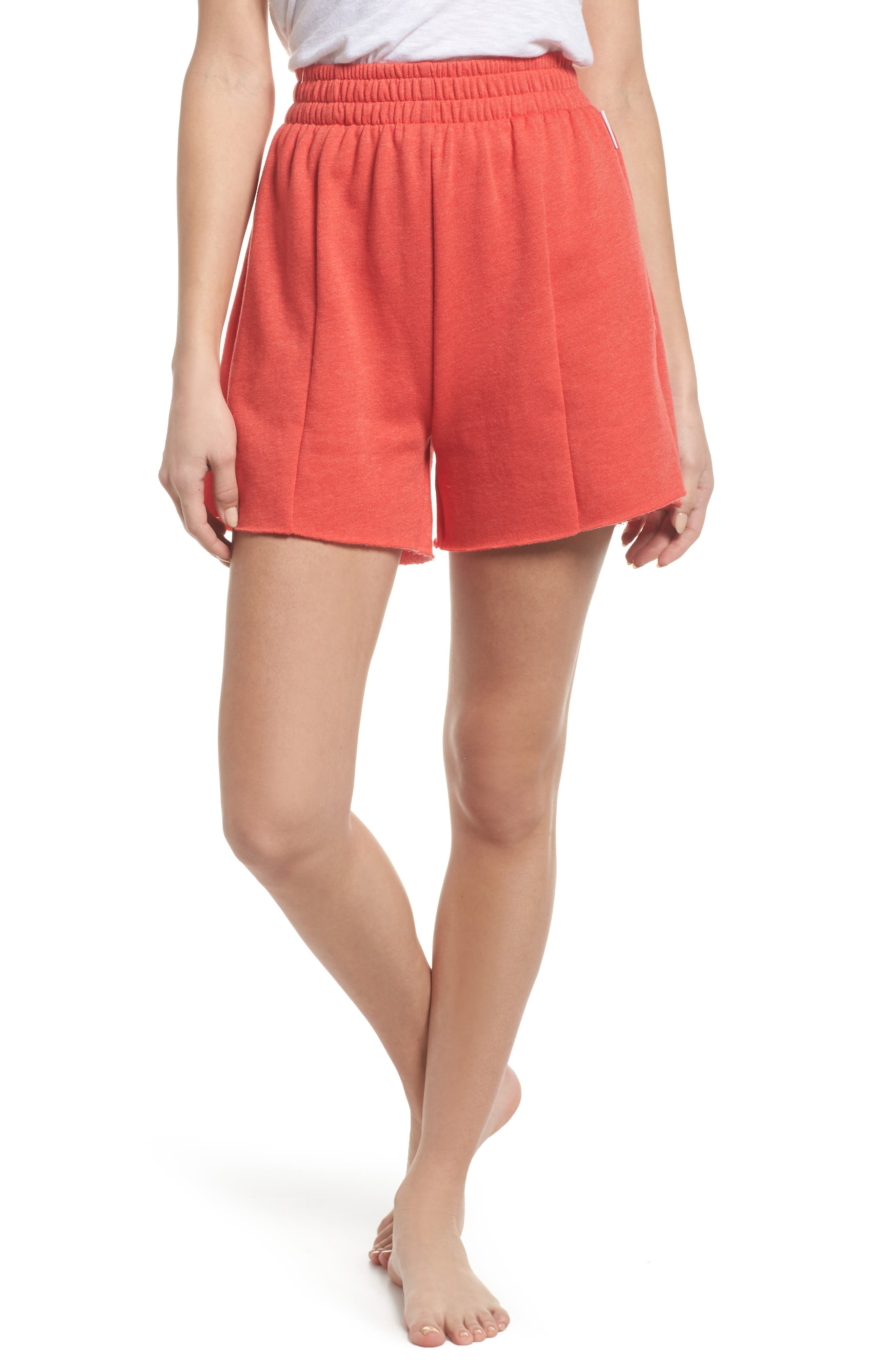 Bermuda Lounge Shorts,                         Main,                         color, Love Red