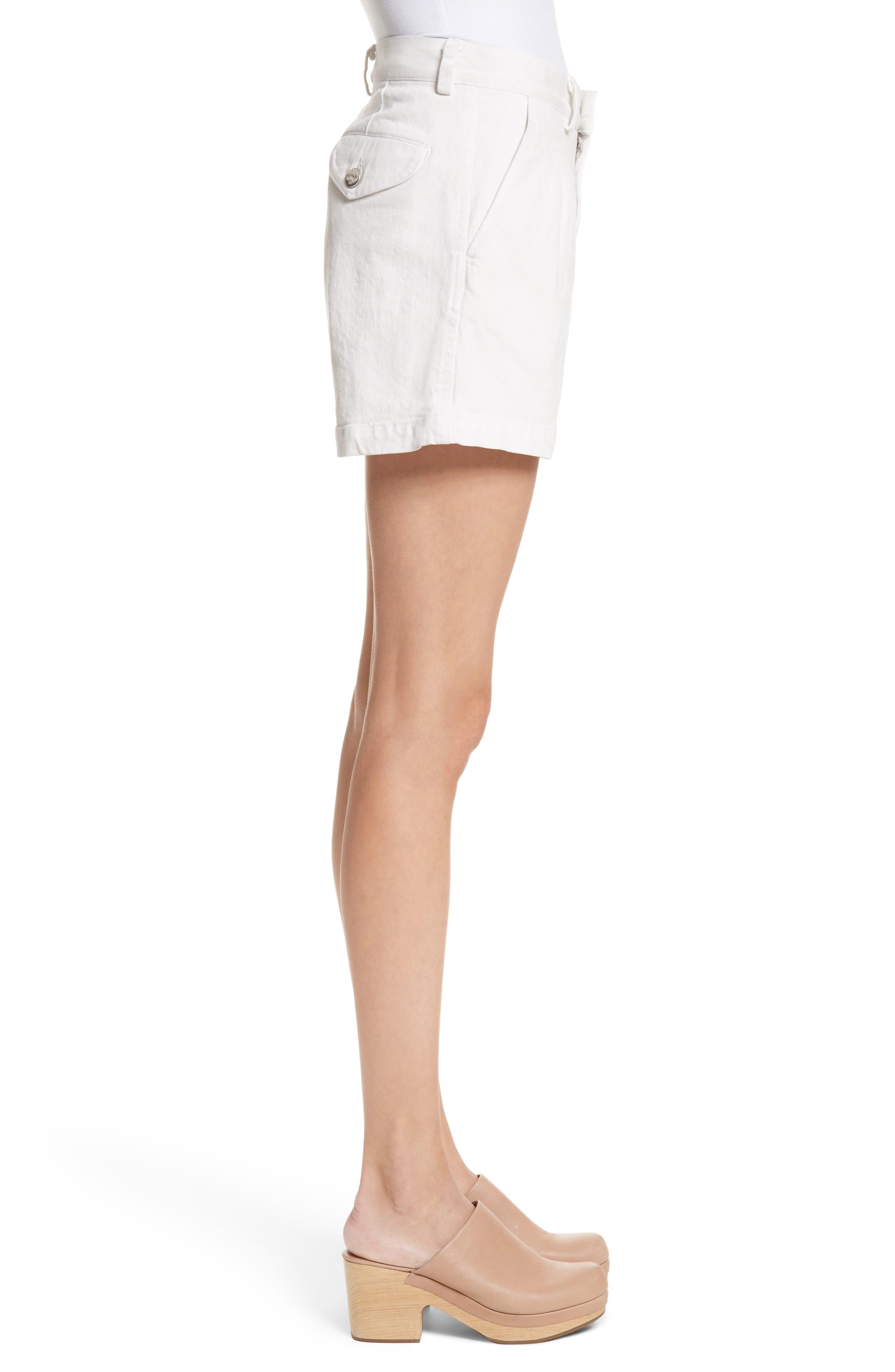 Daft Denim Shorts,                             Alternate thumbnail 3, color,                             Dirty White