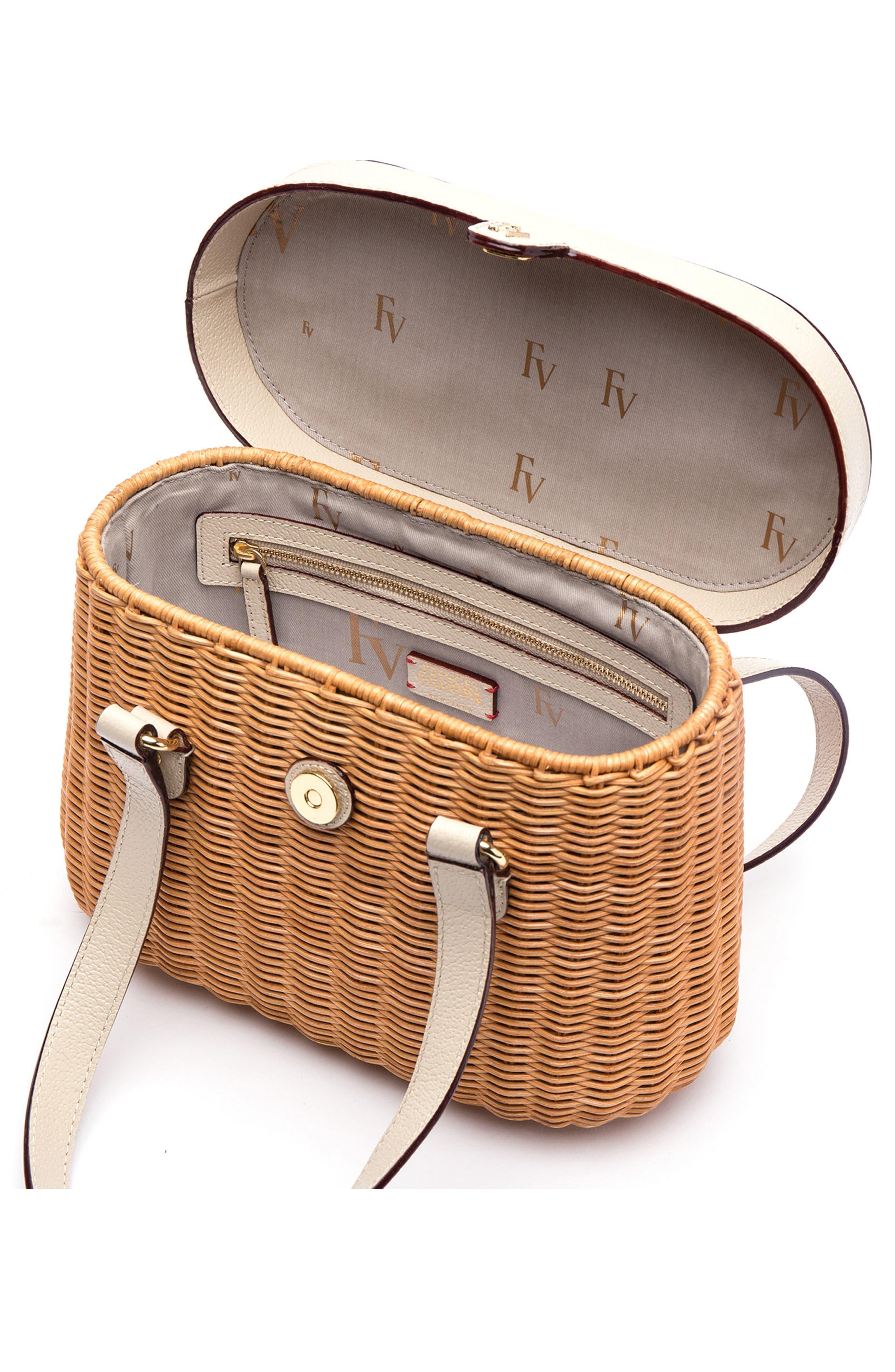 Wicker Basket Shoulder Bag,                             Alternate thumbnail 2, color,                             Natural/ Oyster