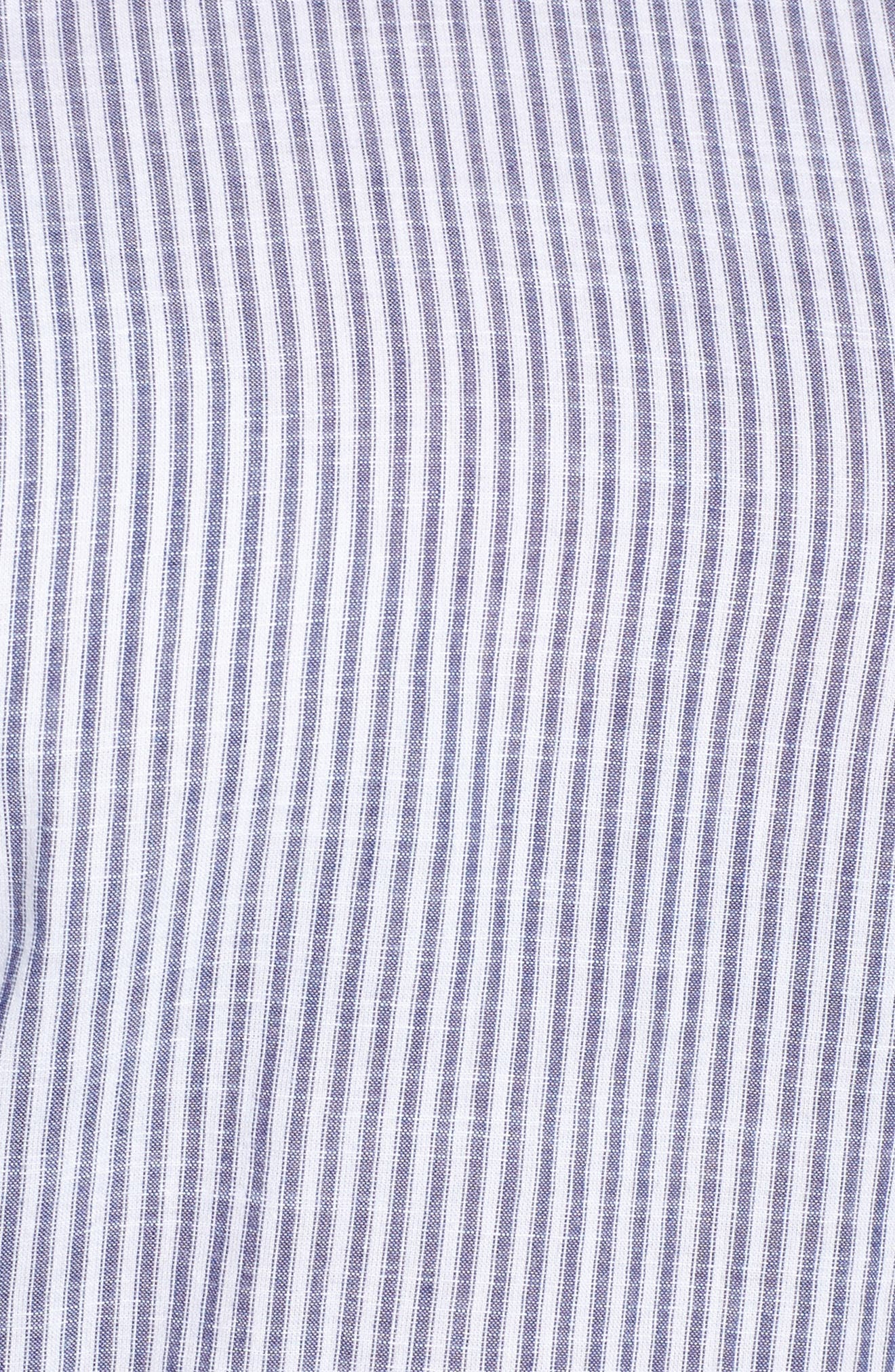 Embroidered Blouse,                             Alternate thumbnail 5, color,                             Blue-White