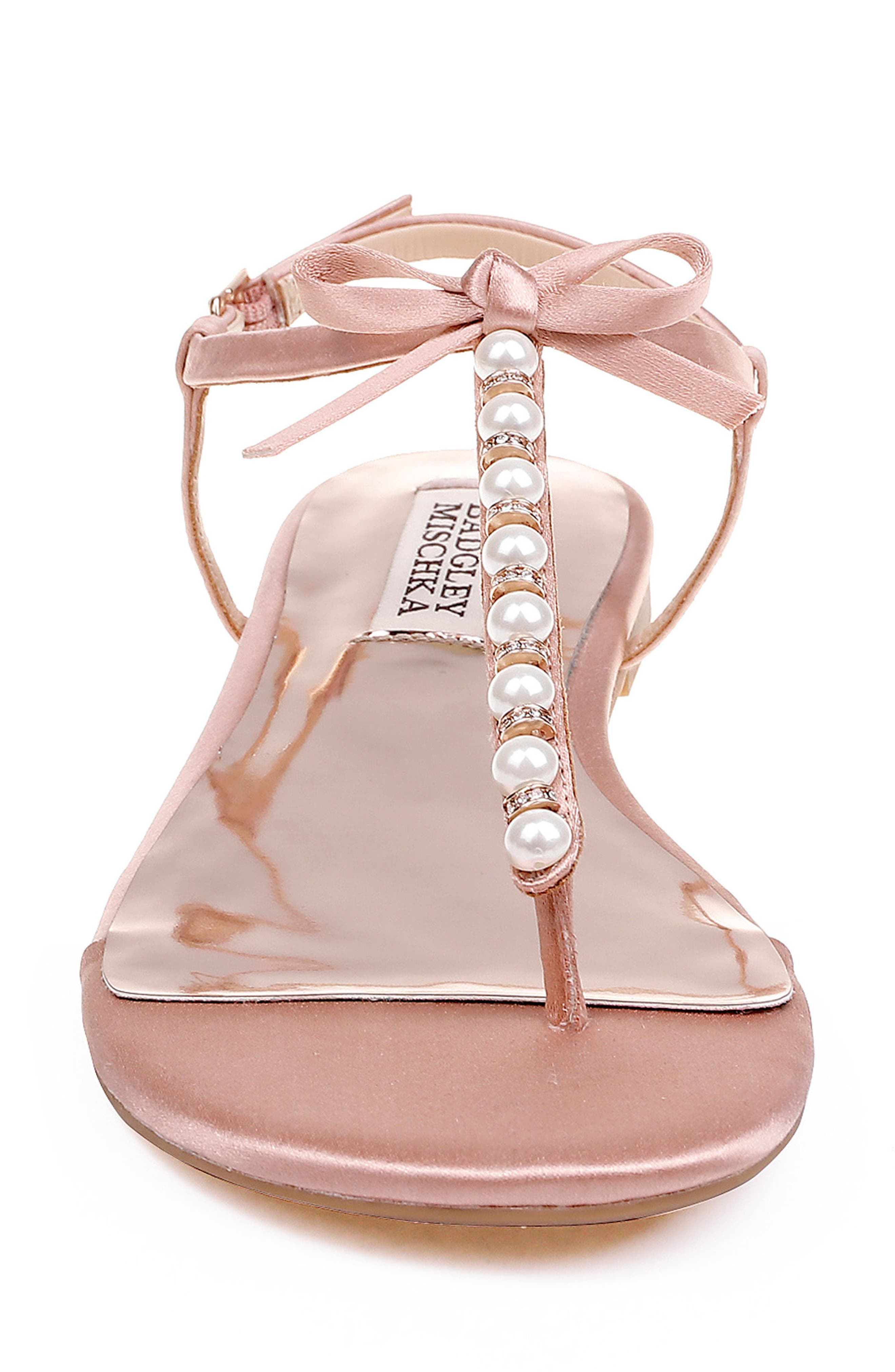 Honey Embellished Sandal,                             Alternate thumbnail 4, color,                             Dark Pink Satin