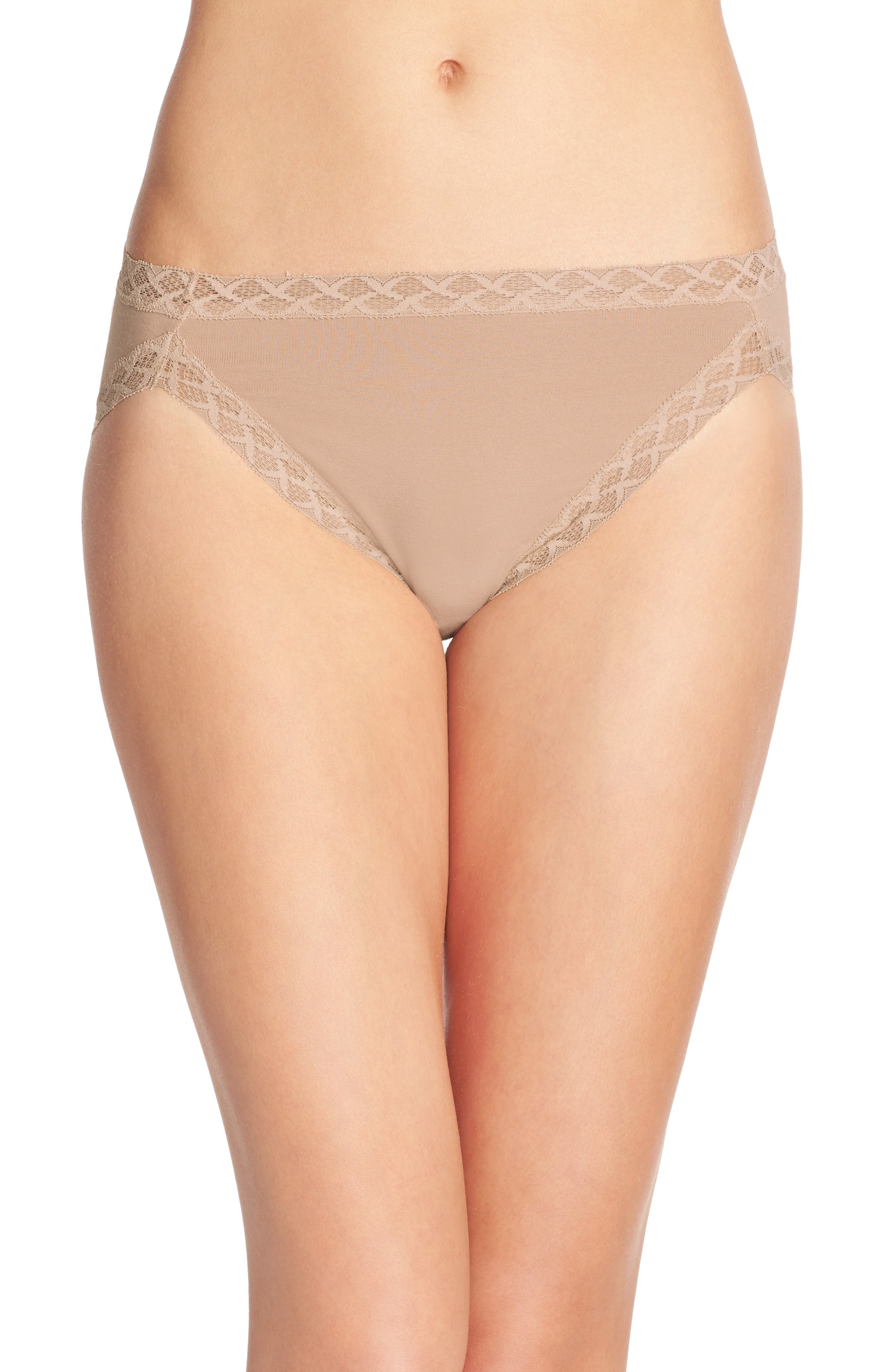 Bliss French Cut Briefs,                             Main thumbnail 1, color,                             Cafe