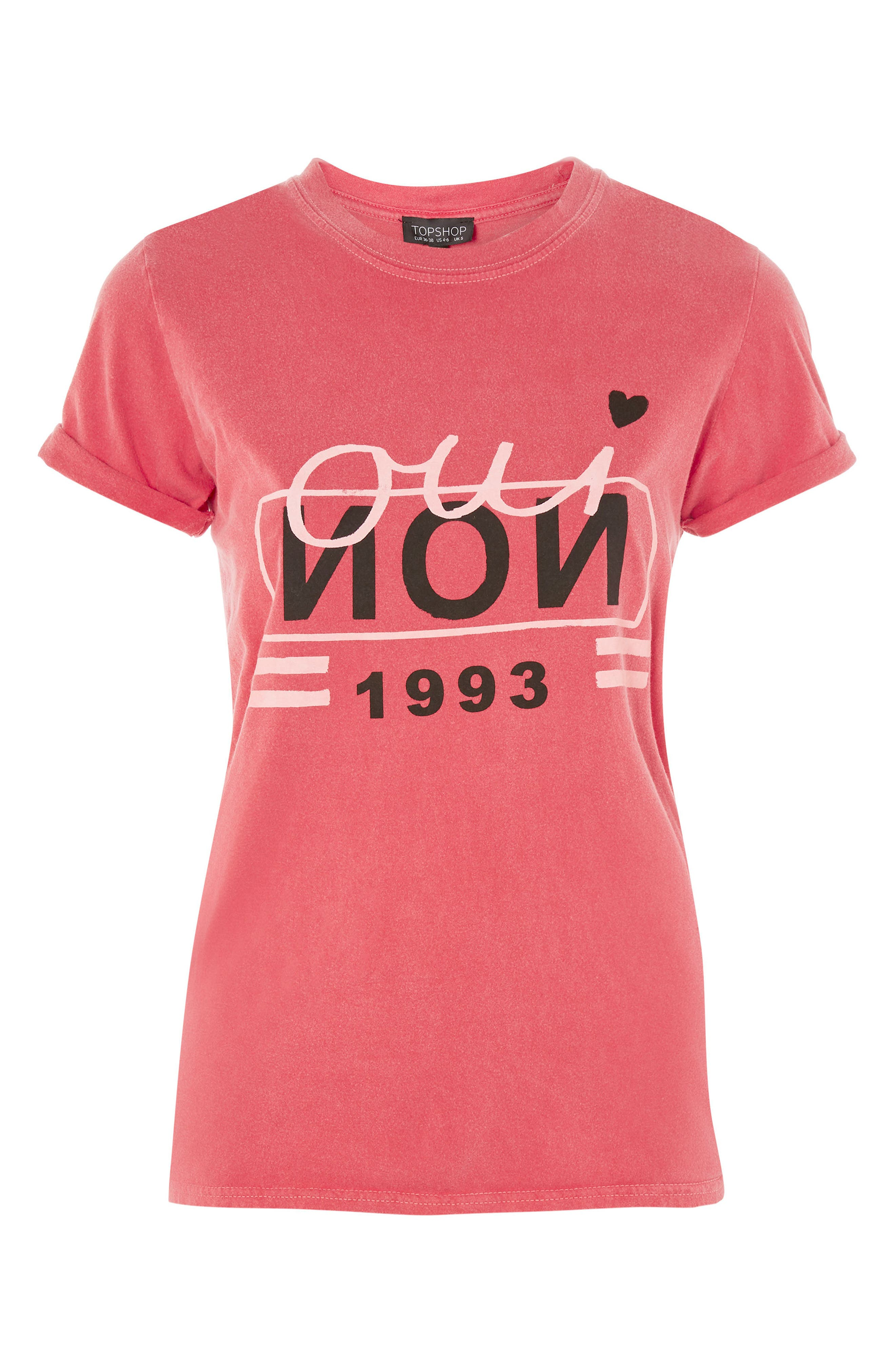 Oui Non 1993 Graphic Tee,                             Alternate thumbnail 4, color,                             Red