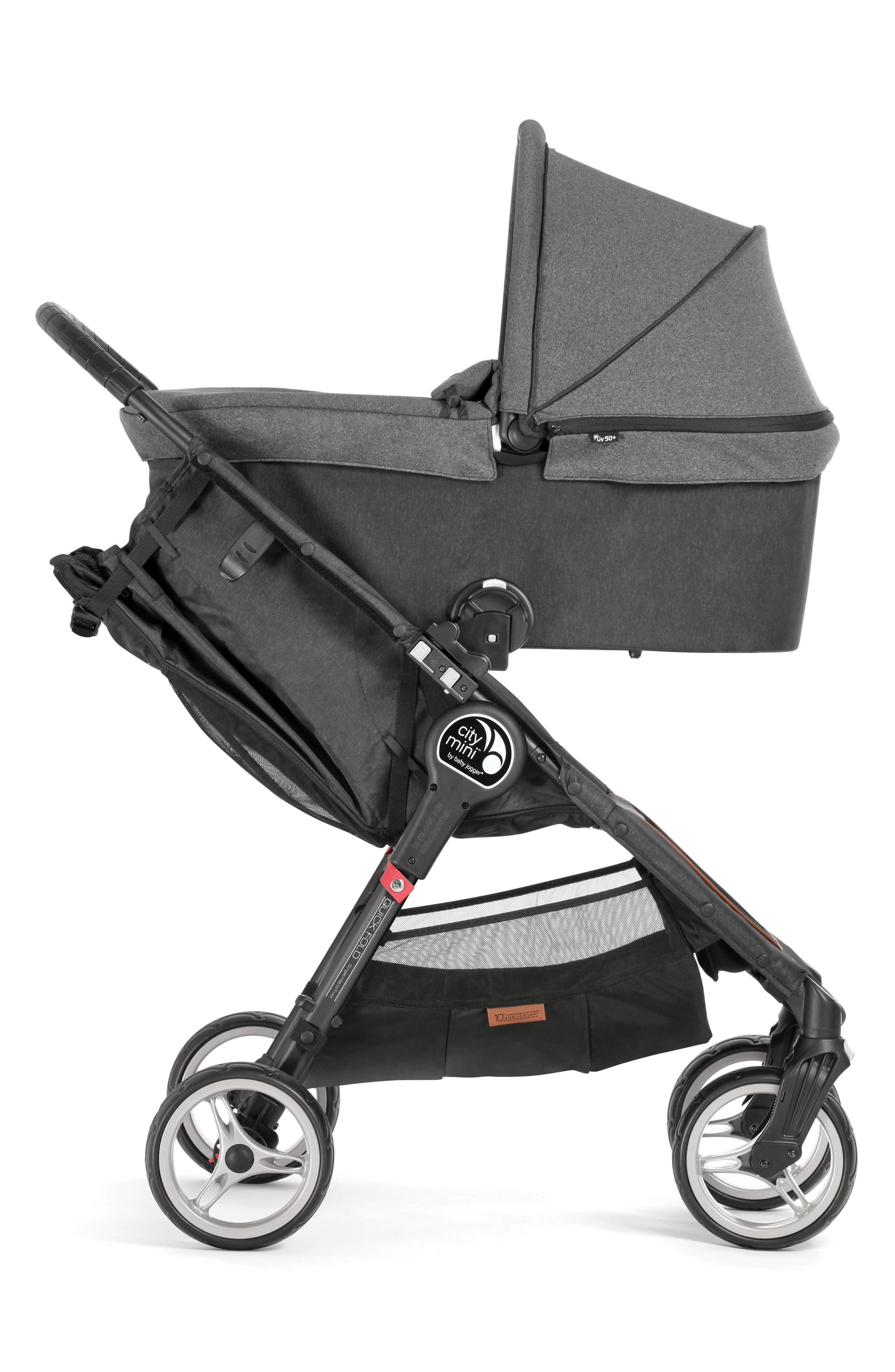 Deluxe Pram Converter Kit for City Mini<sup>®</sup> 2018 Special Edition 10-Year Anniversary All-Terrain Stroller,                             Alternate thumbnail 4, color,                             Grey