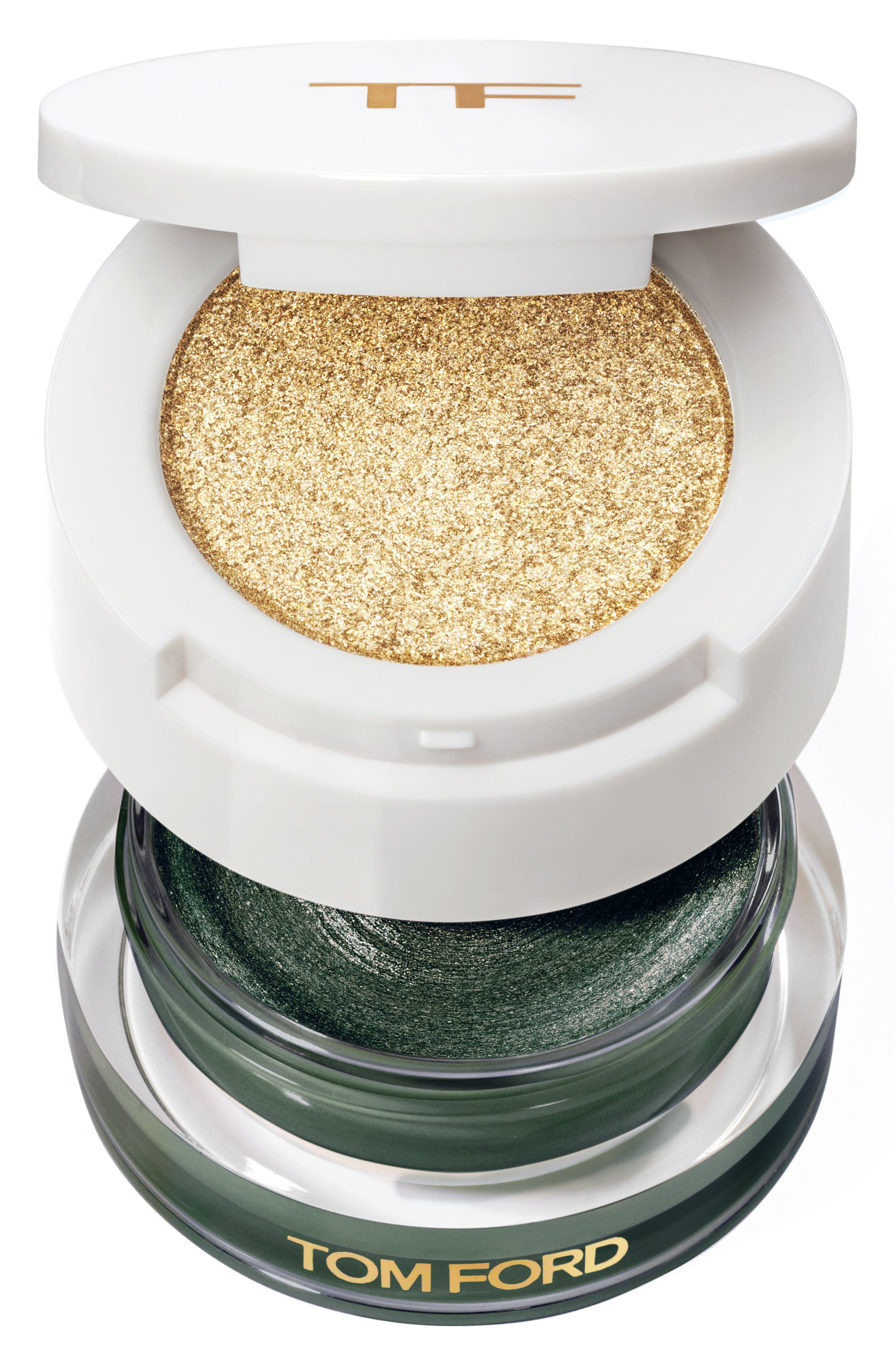 Cream & Powder Eye Color Duo,                             Main thumbnail 1, color,                             Emerald Isles