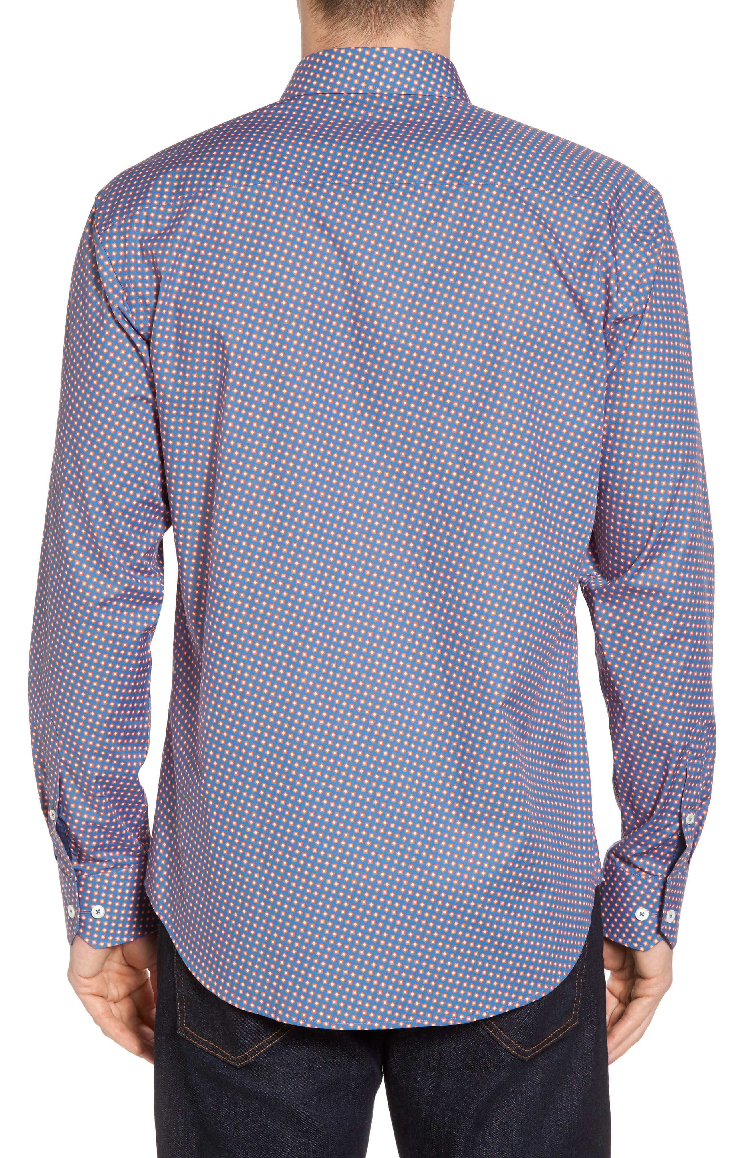 Alternate Image 2  - Bugatchi Slim Fit Print Sport Shirt