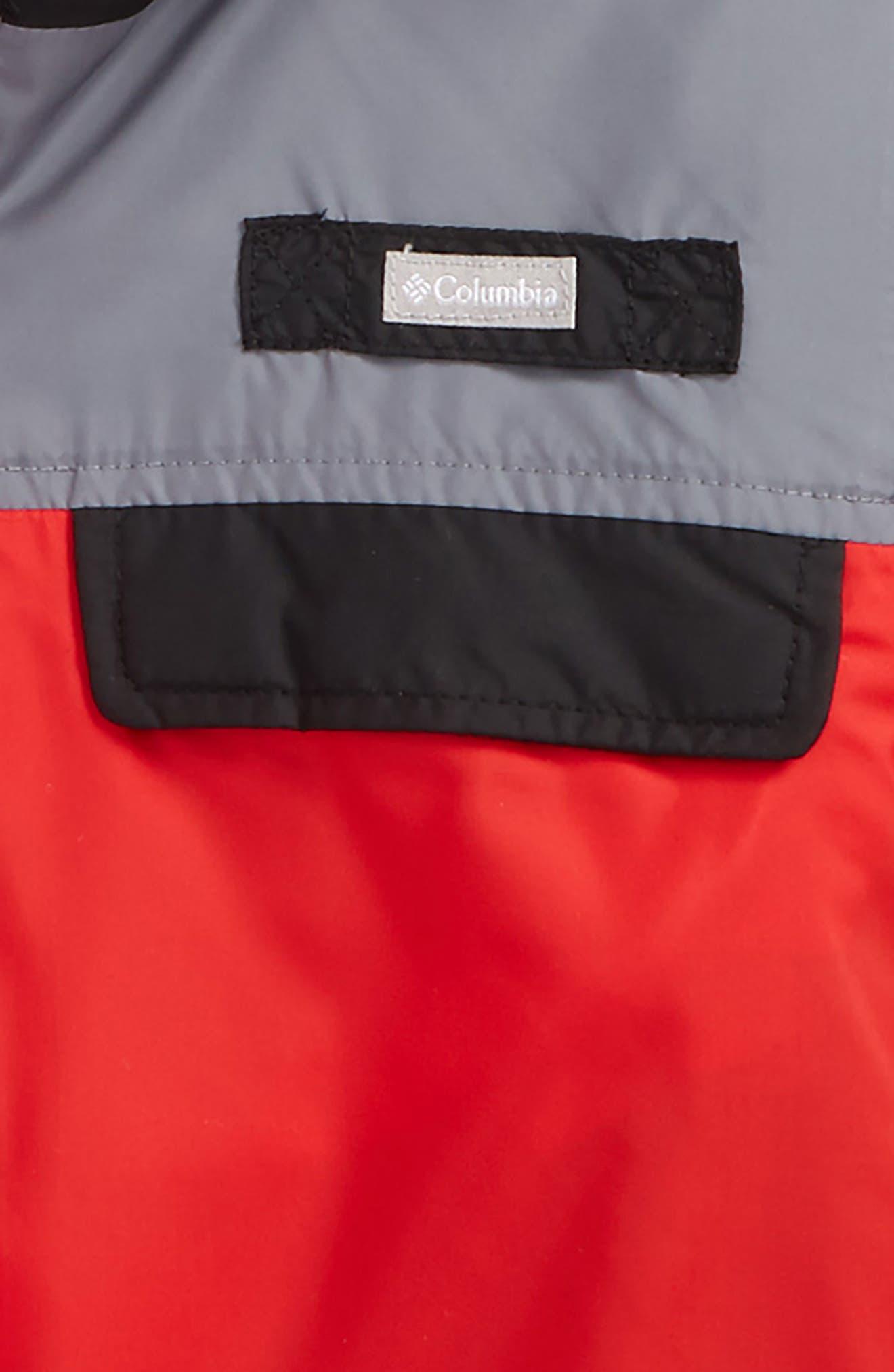 Mountain Side Water Resistant Windbreaker Jacket,                             Alternate thumbnail 2, color,                             Bright Red/ Grey Ash/Black