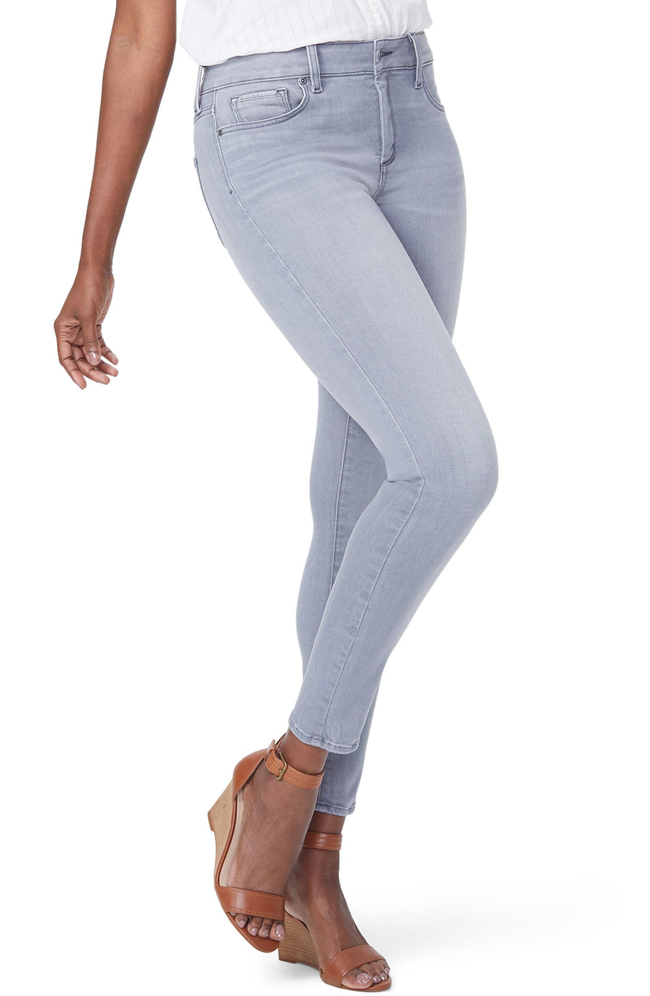 Ami Skinny Jeans,                         Main,                         color, Carbon Beach