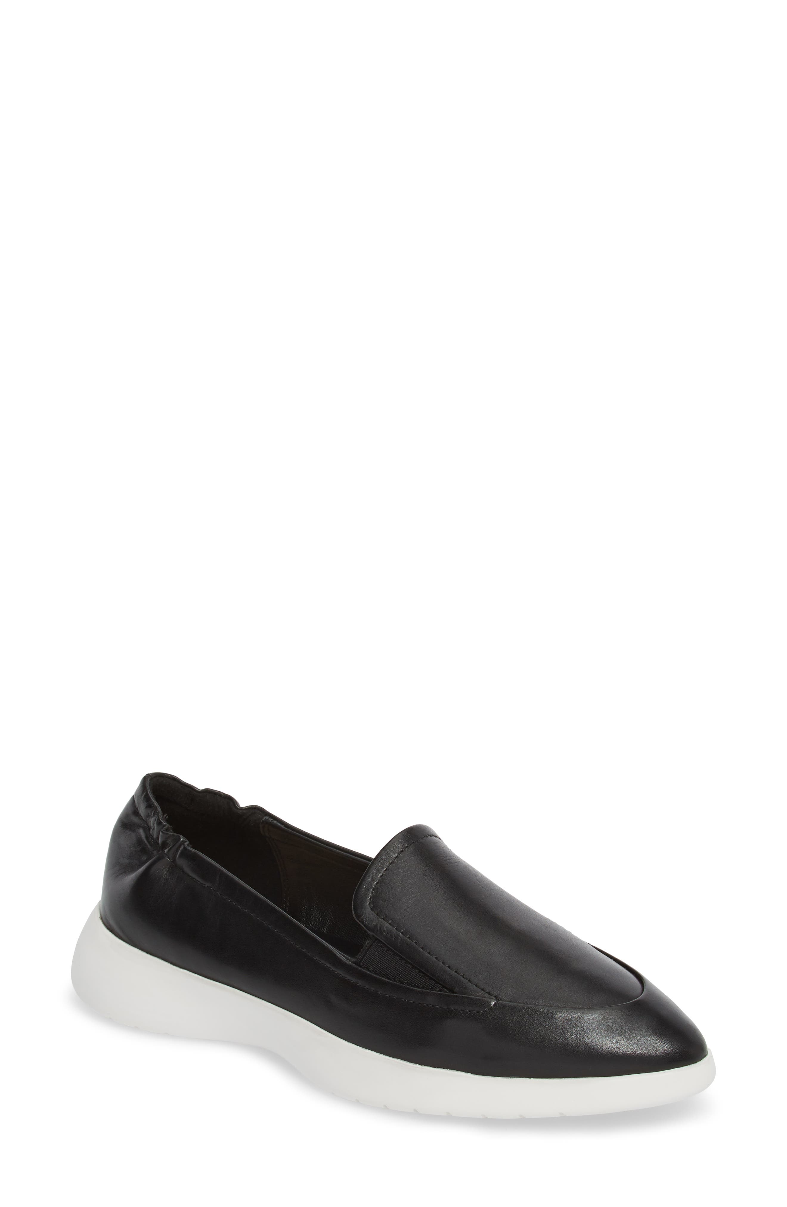 Dana Loafer Sneaker,                         Main,                         color, Black Leather