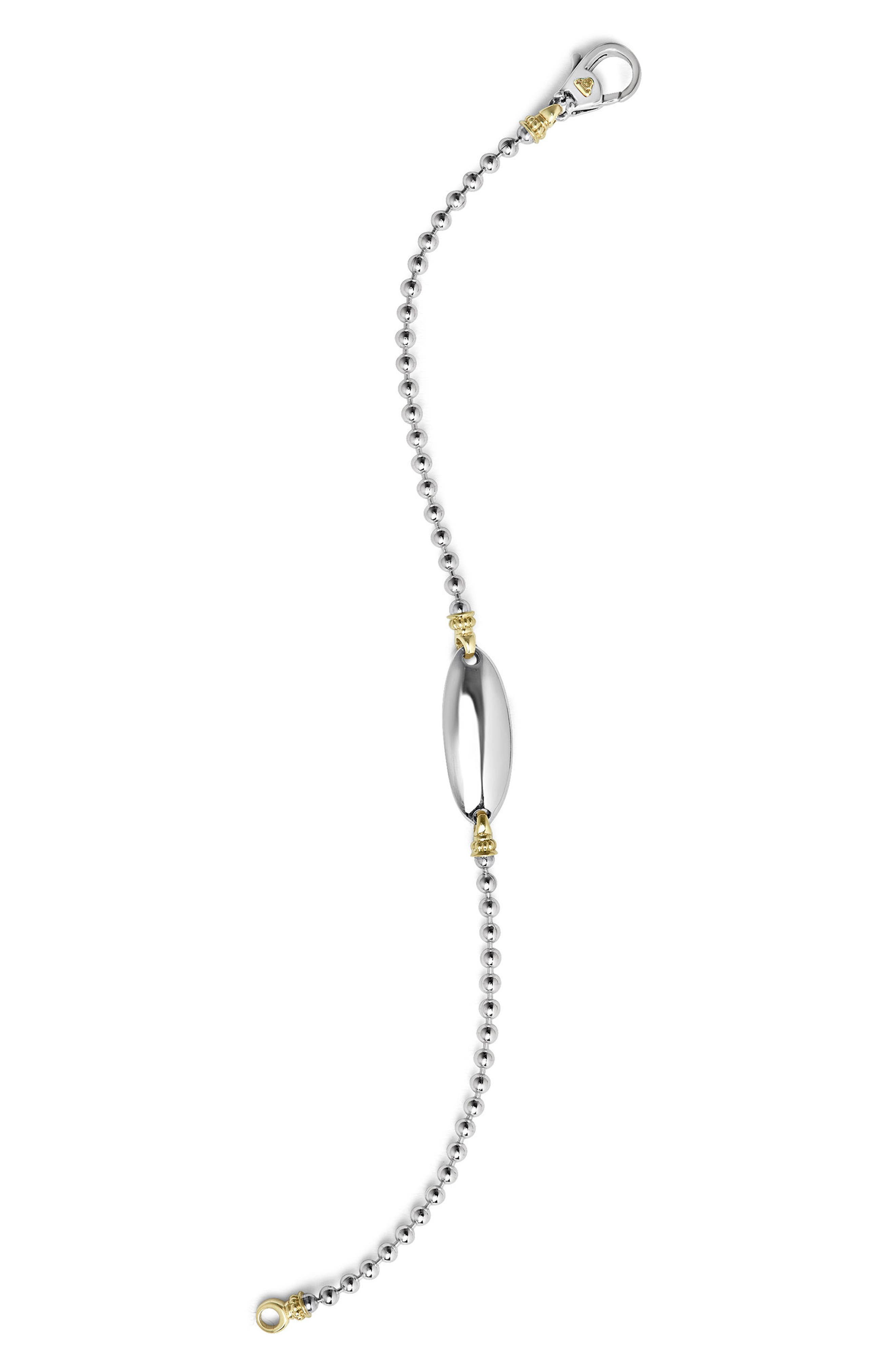 Beloved Oval Plate Bracelet,                             Alternate thumbnail 4, color,                             Silver