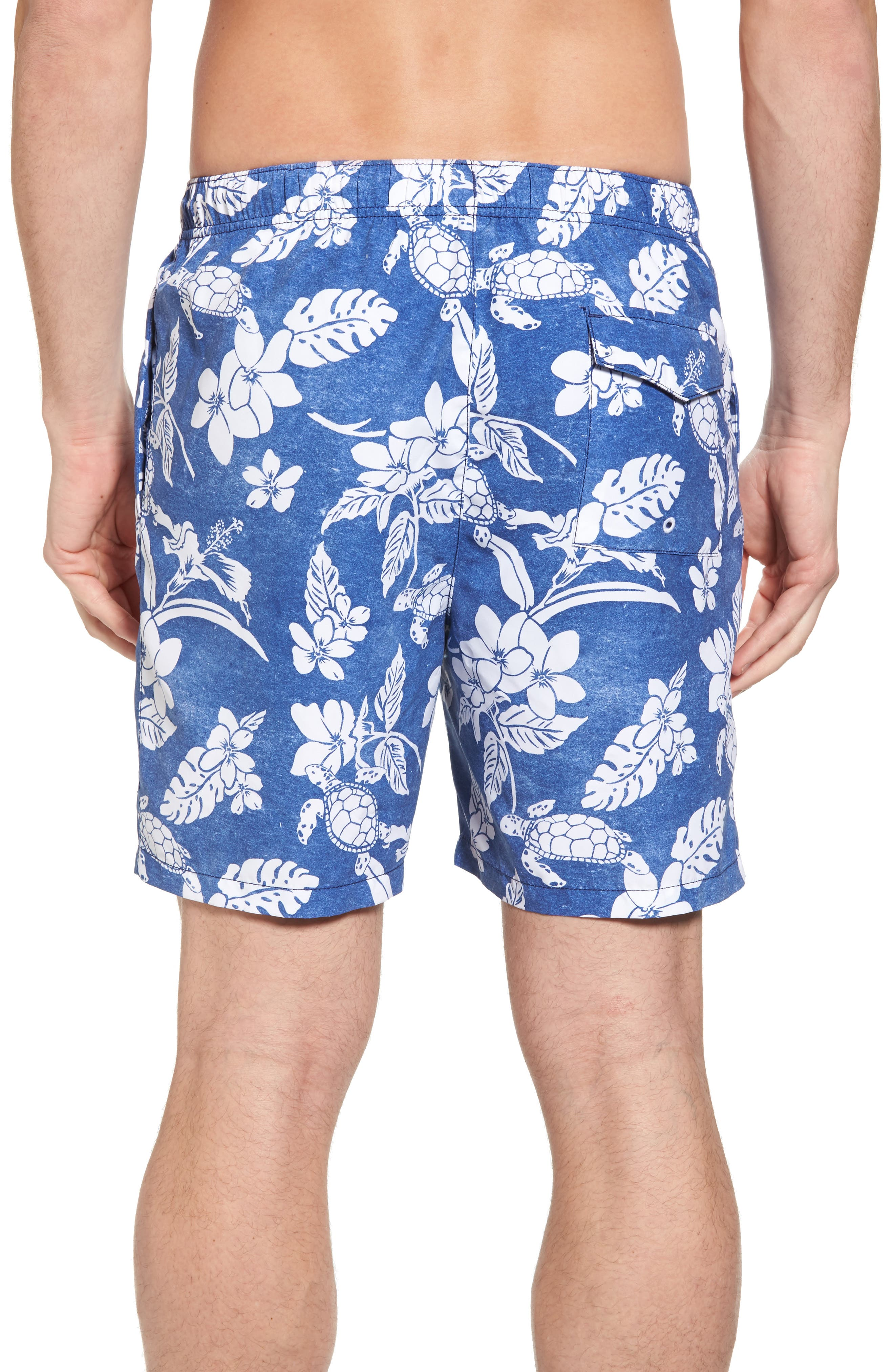 Naples Turtle Beach Swim Trunks,                             Alternate thumbnail 2, color,                             Kingdom Blue