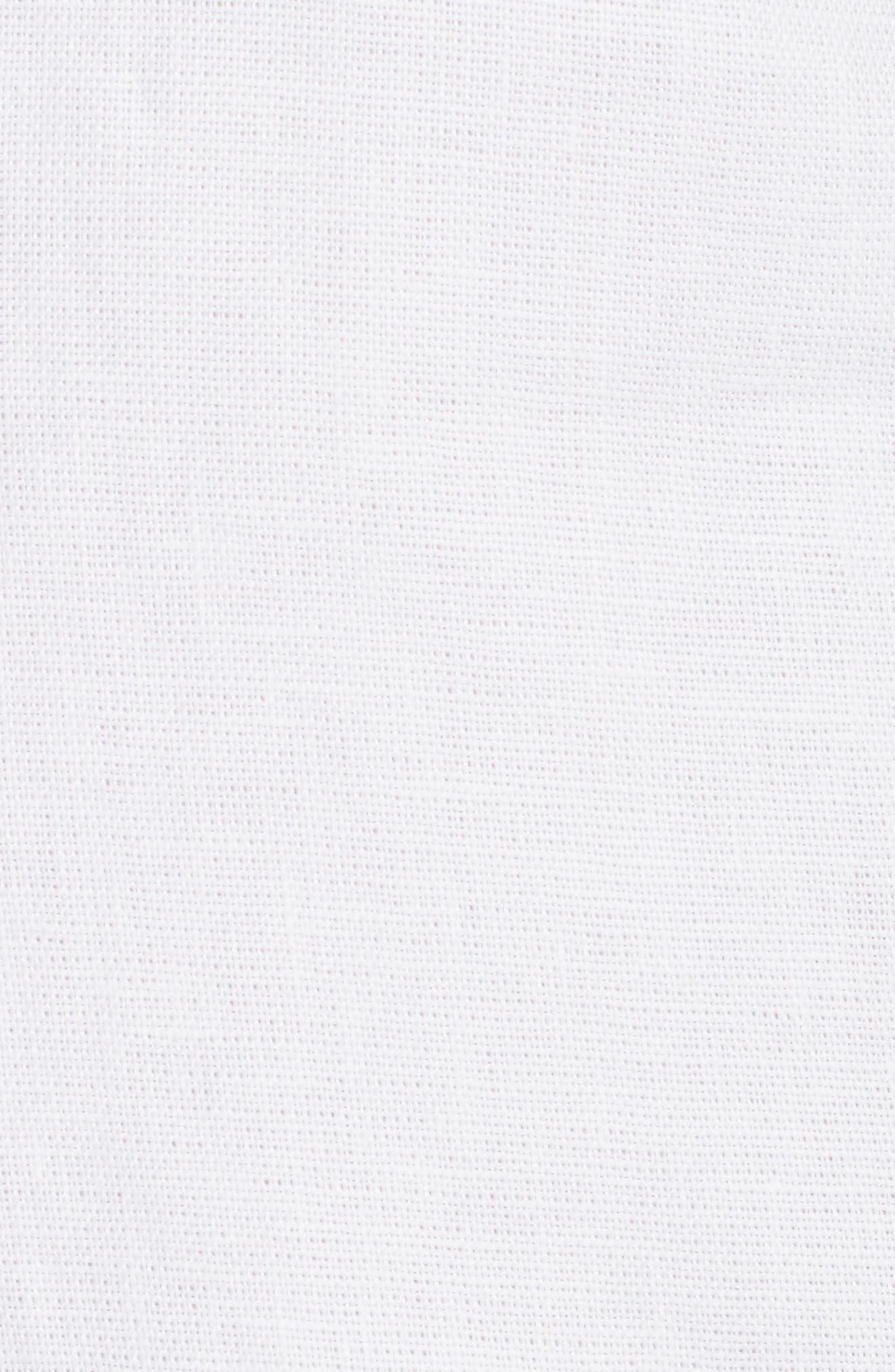Linen Shift Dress,                             Alternate thumbnail 5, color,                             White