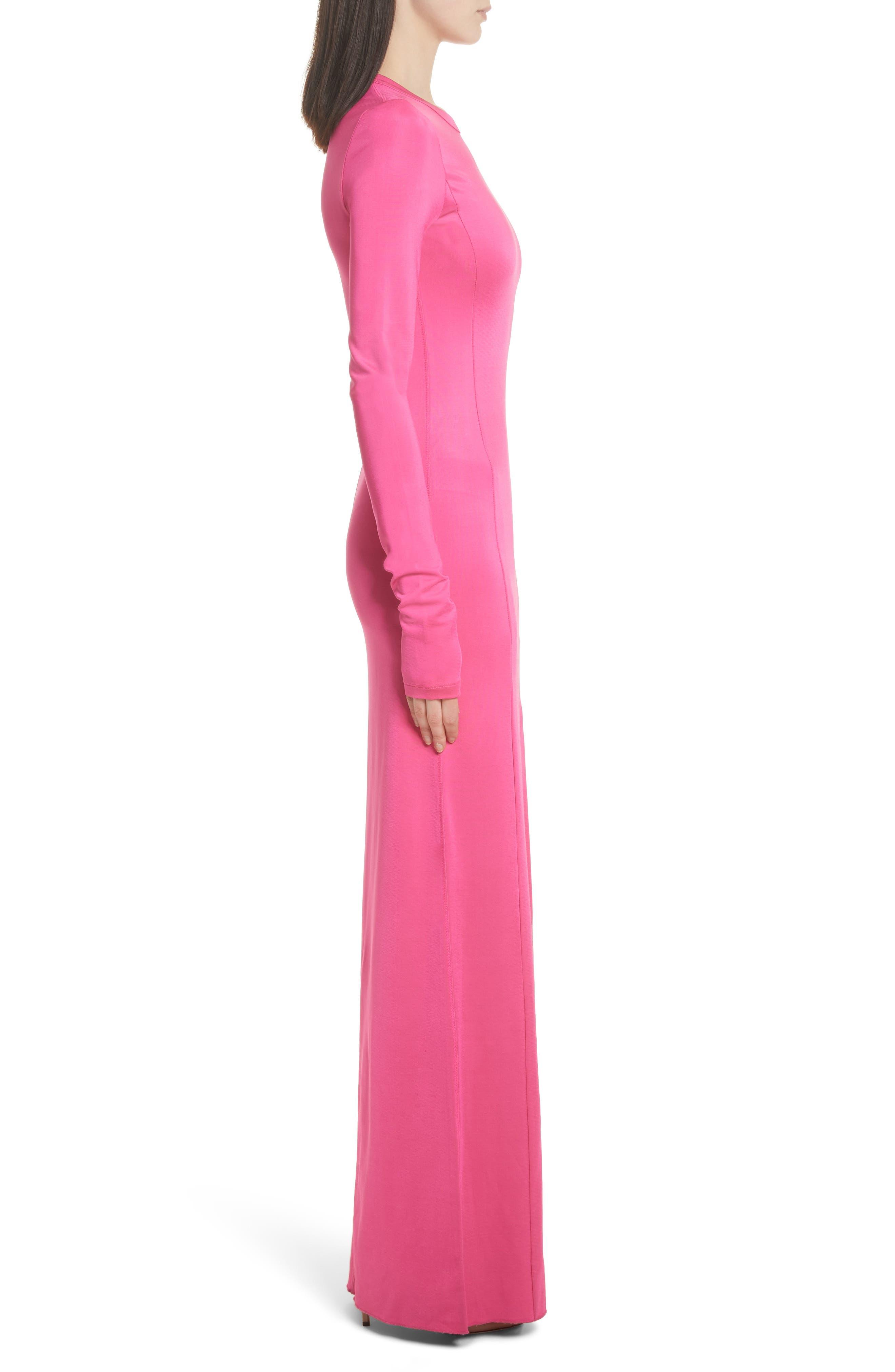 Fallon Slit Skirt Jersey Maxi Dress,                             Alternate thumbnail 4, color,                             Flamingo