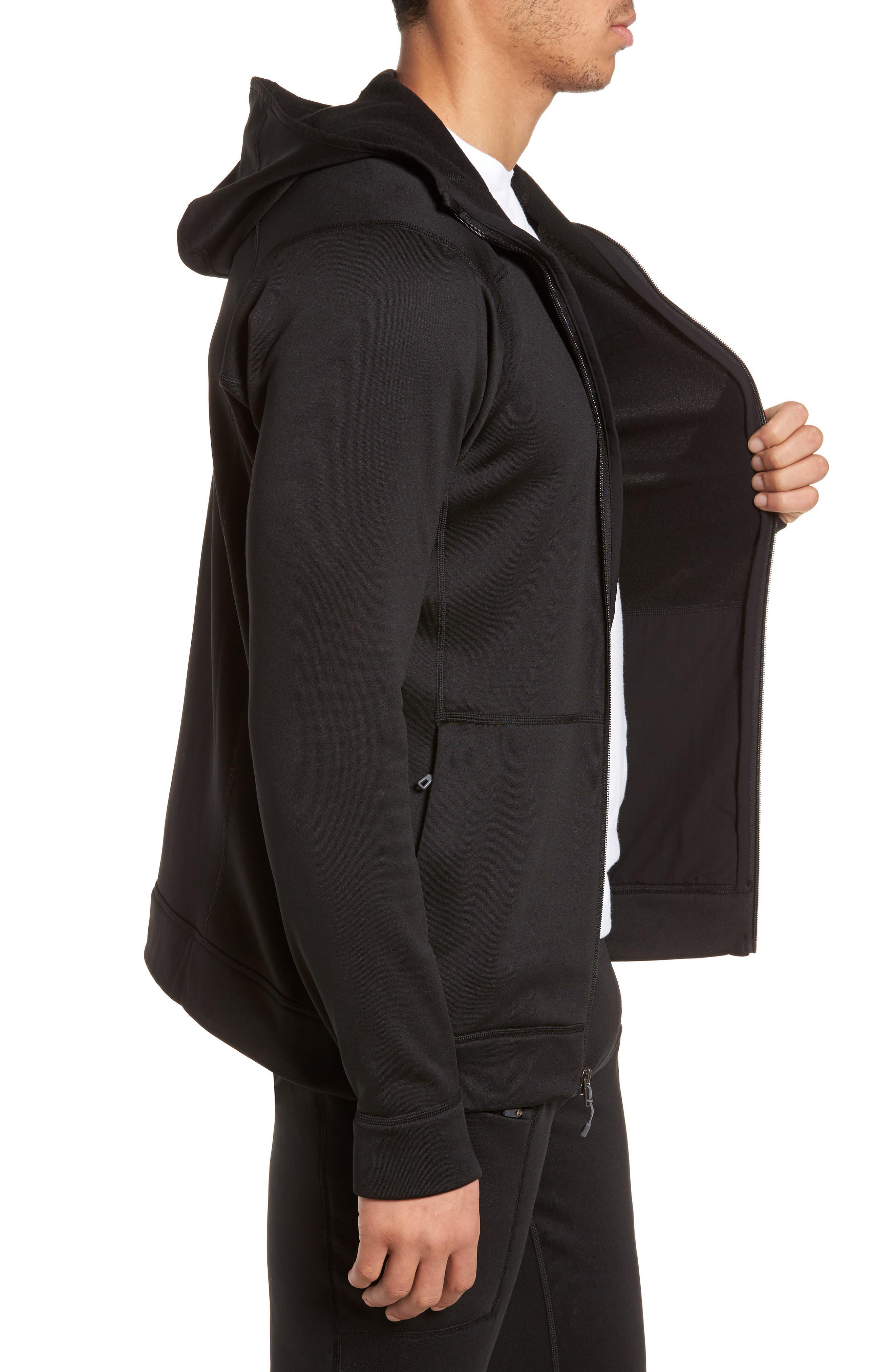 M's Crosstrek Zip Hoodie,                             Alternate thumbnail 3, color,                             Black