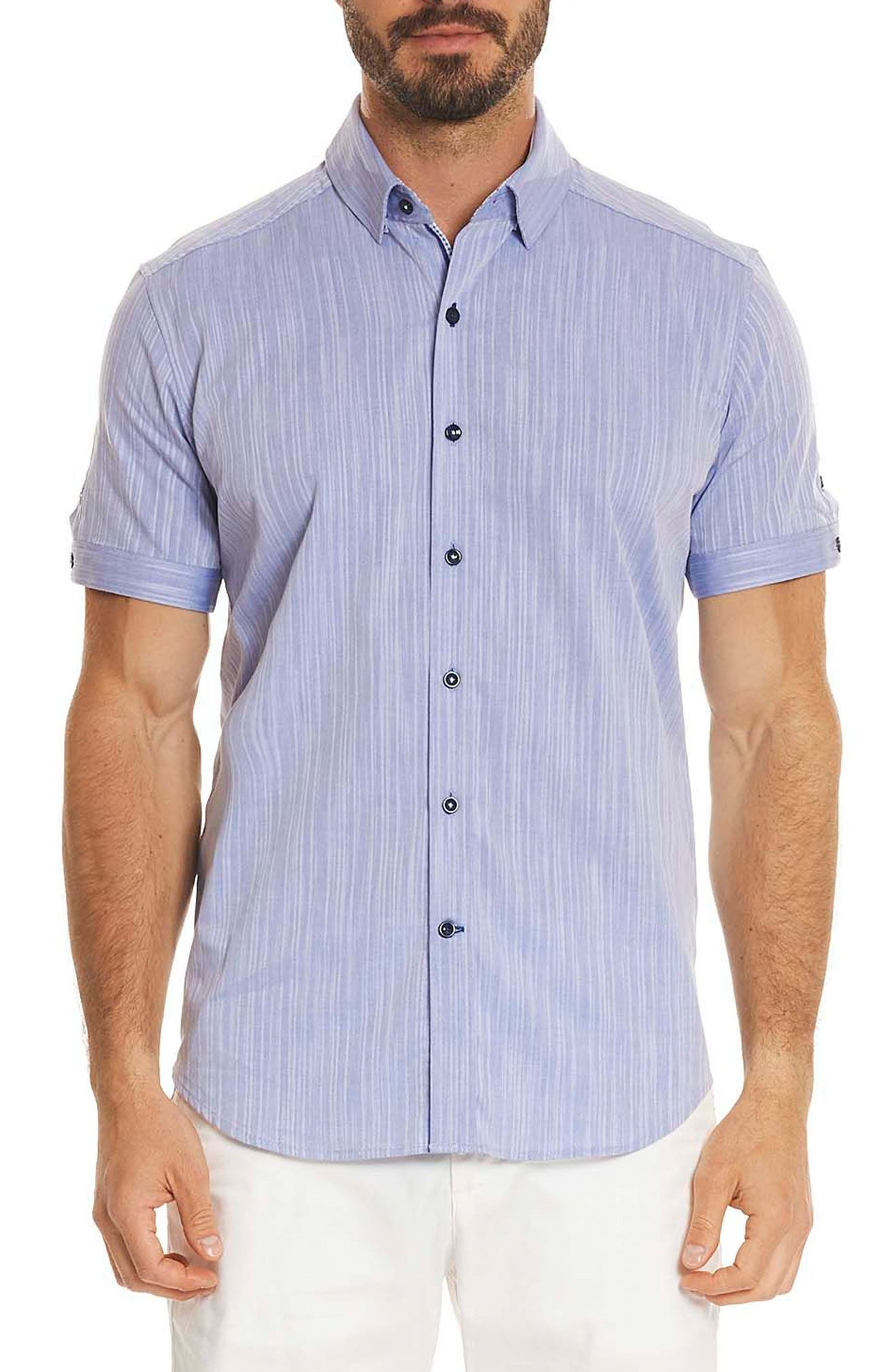 Robert Graham Livingston Regular Fit Short Sleeve Sport Shirt