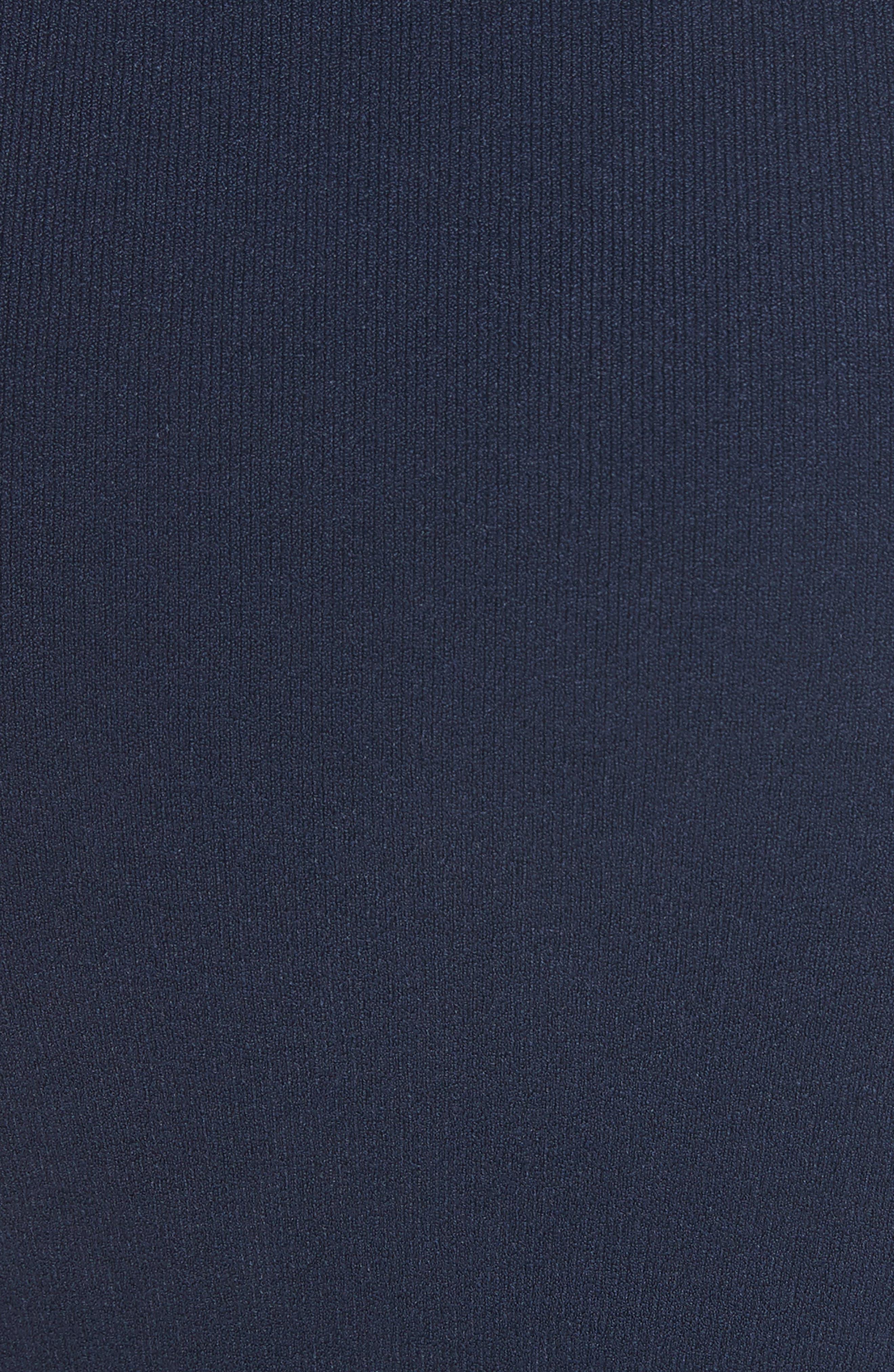 Ruched Midi Skirt,                             Alternate thumbnail 5, color,                             Navy