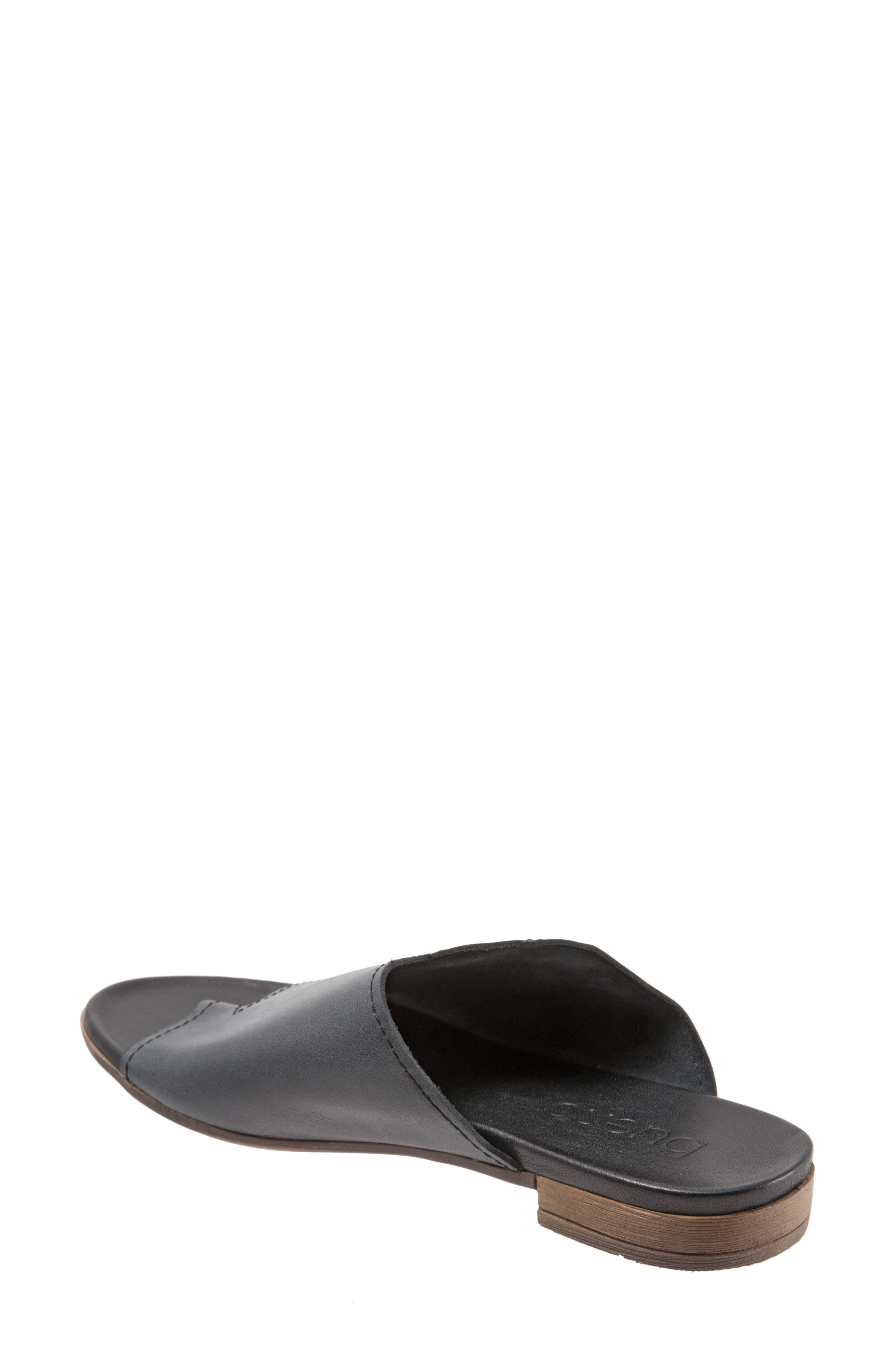 Tulla Sandal,                             Alternate thumbnail 2, color,                             Black Leather
