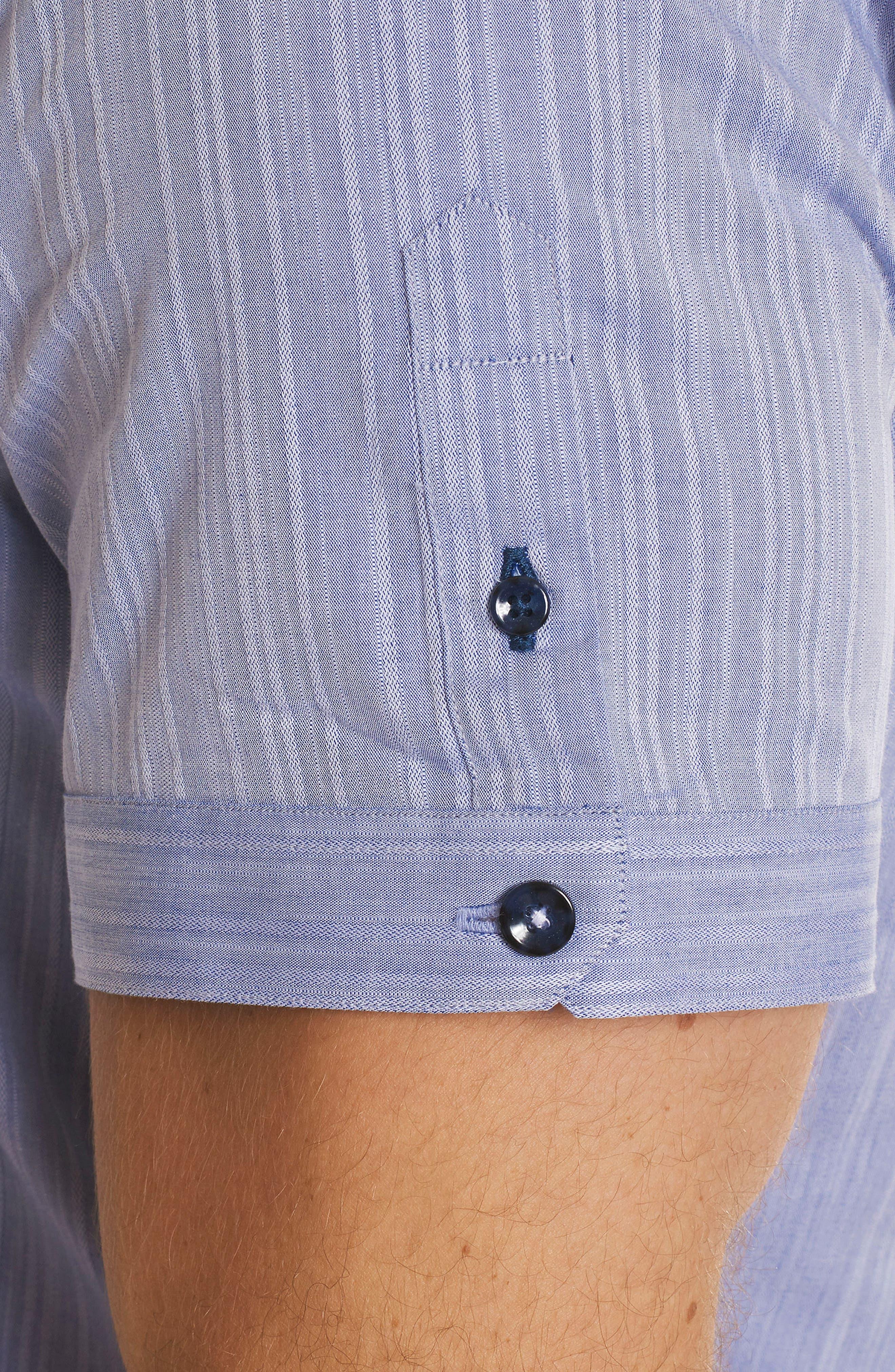 Livingston Regular Fit Short Sleeve Sport Shirt,                             Alternate thumbnail 5, color,                             Blue