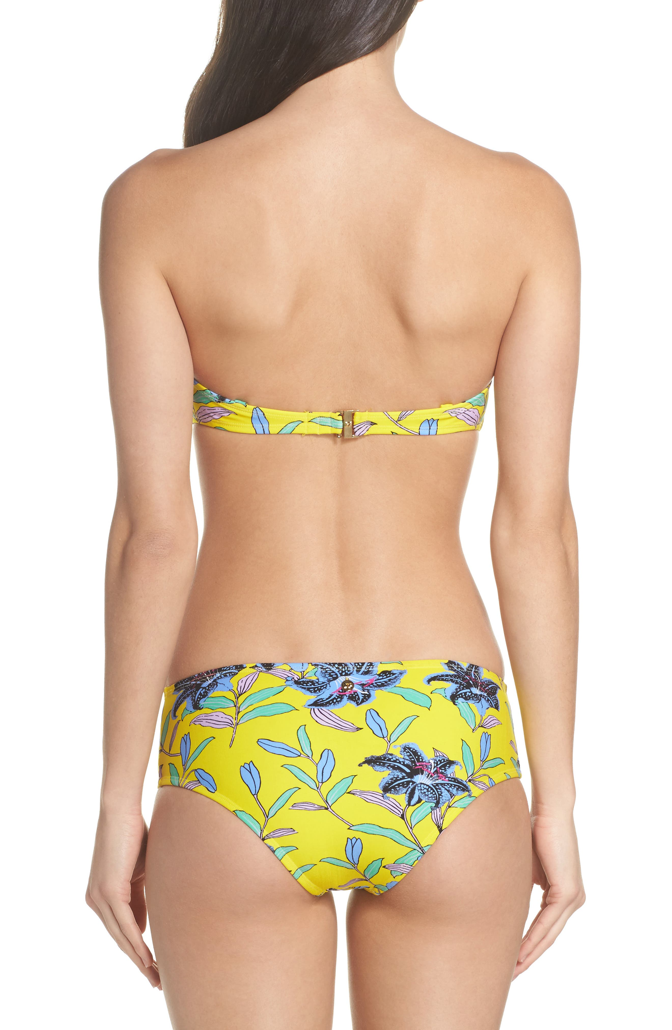 Mid Rise Cheeky Bikini Bottoms,                             Alternate thumbnail 6, color,                             Argos Small Allover Pineapple