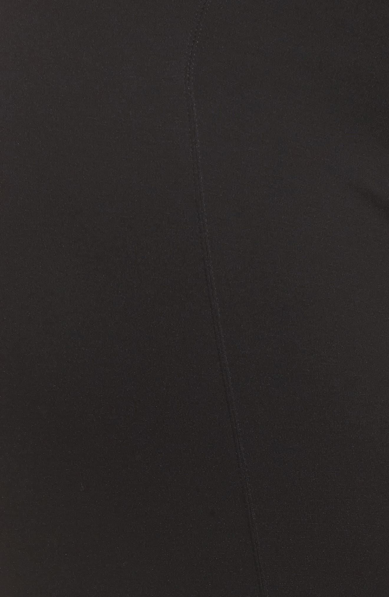 Taylor Capri Leggings,                             Alternate thumbnail 5, color,                             Black